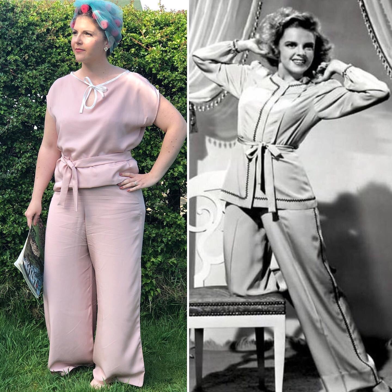 Recreating vintage - Emma in the 'Judy' Loungewear Set