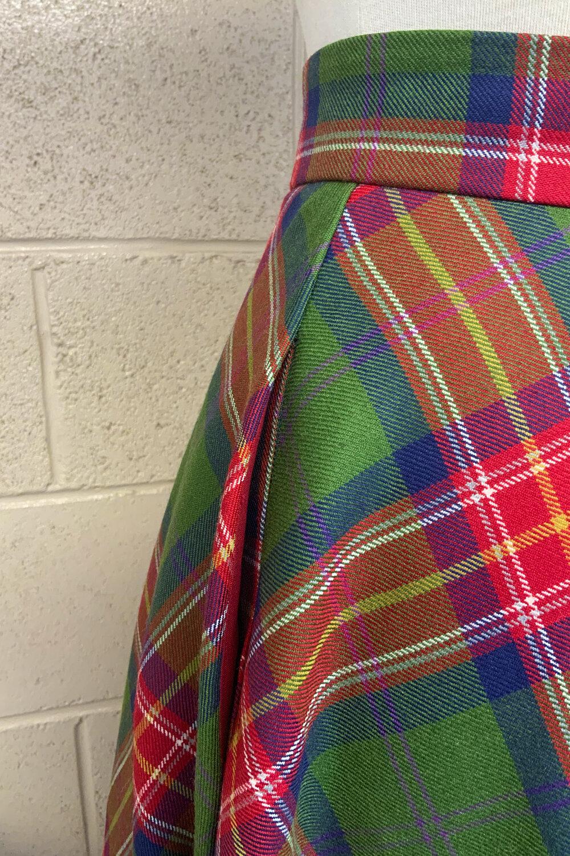 The 'Rosie' half circle vintage inspired skirt - Langholm Tartan