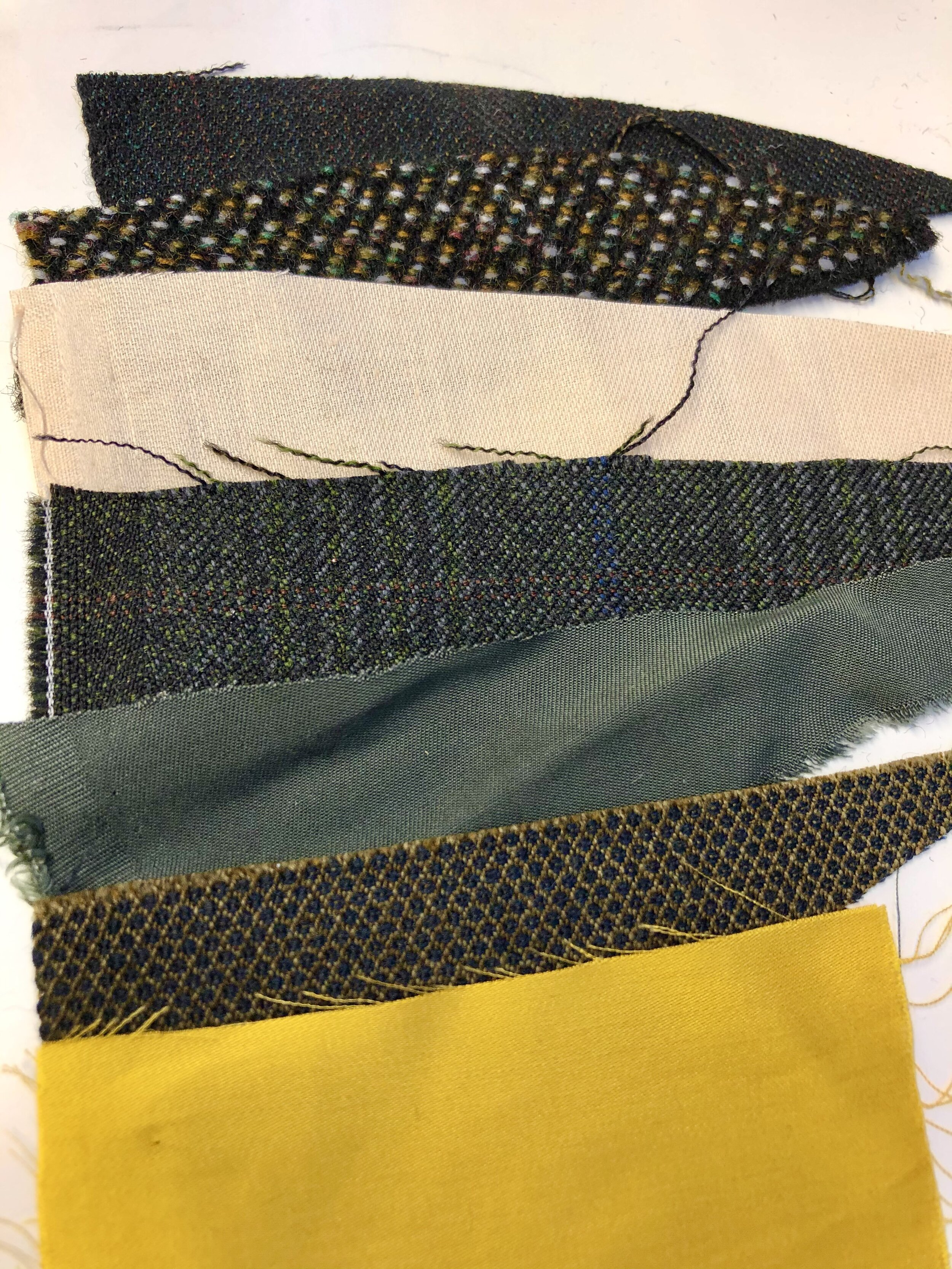 A sneak peak of some of the sustainably sourced fabrics to be used for Rose's Wardrobe favourites - Rosie, Lillias & Patricia.