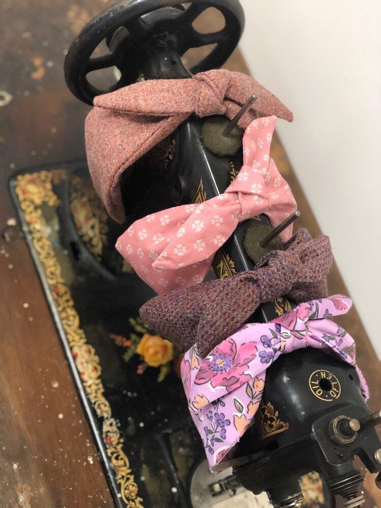 'Bonnie' headband with detachable bow in Autumn 2020 fabrics