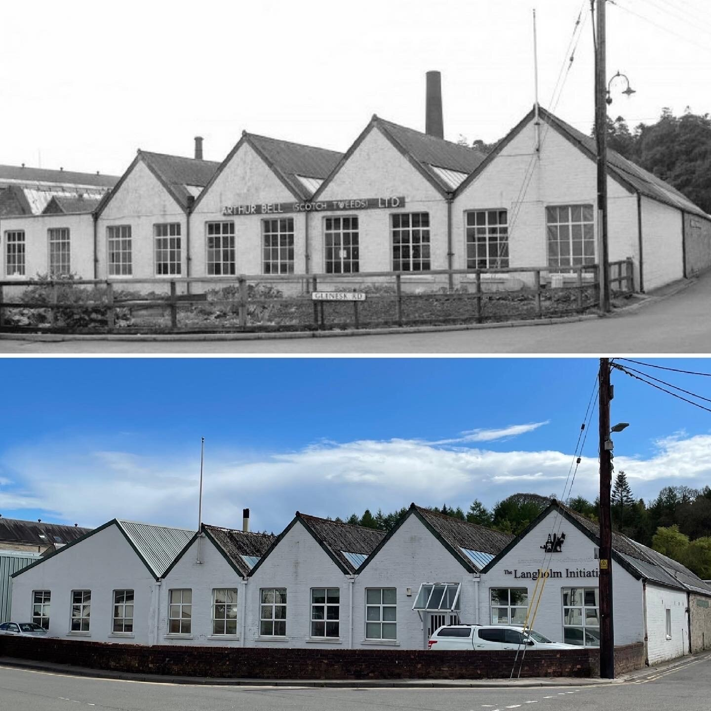 Arthur Bell's Mill in 1975 and now