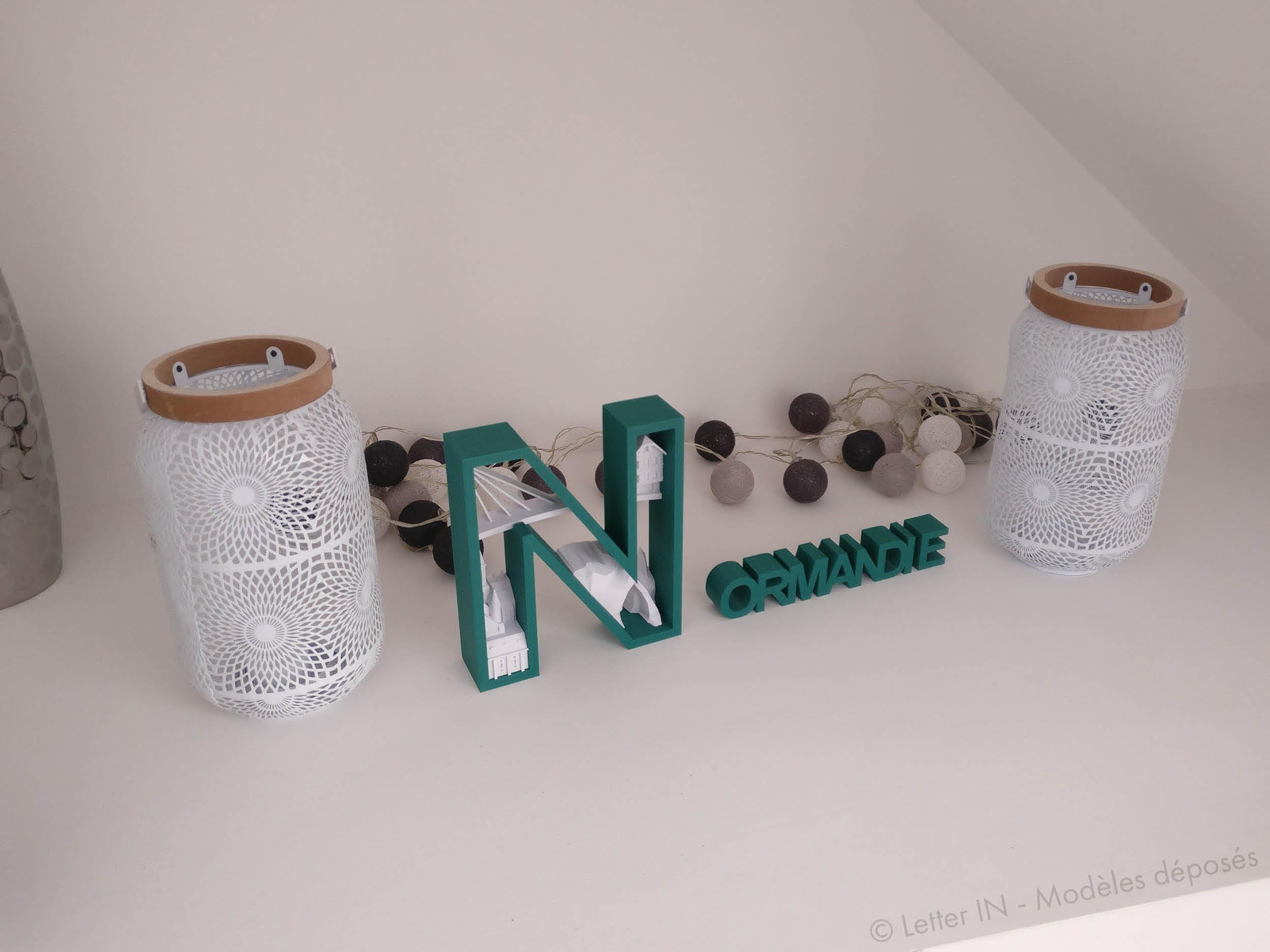 Normandie vert et blanc niche
