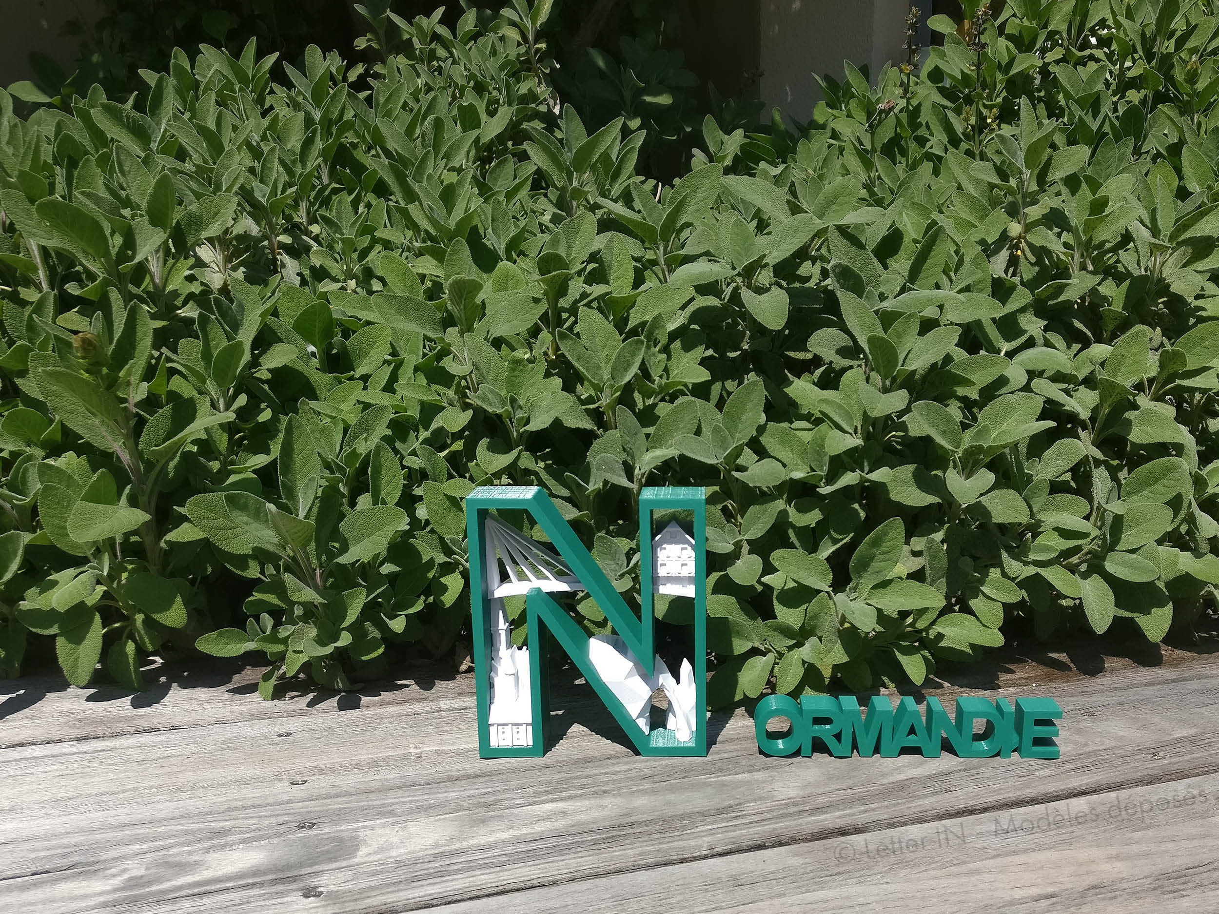 Normandie vert et blanc jardin