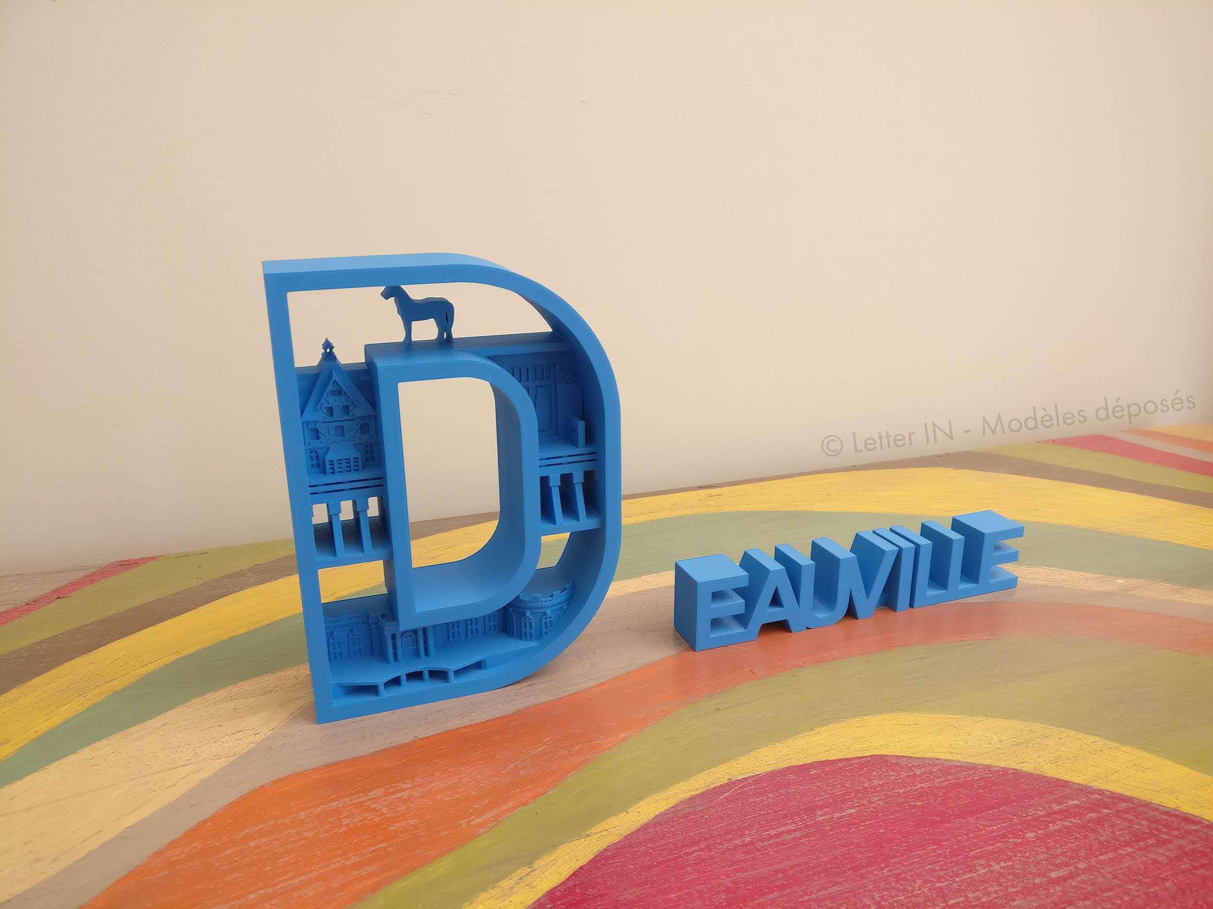 Deauville bleu table multicolore