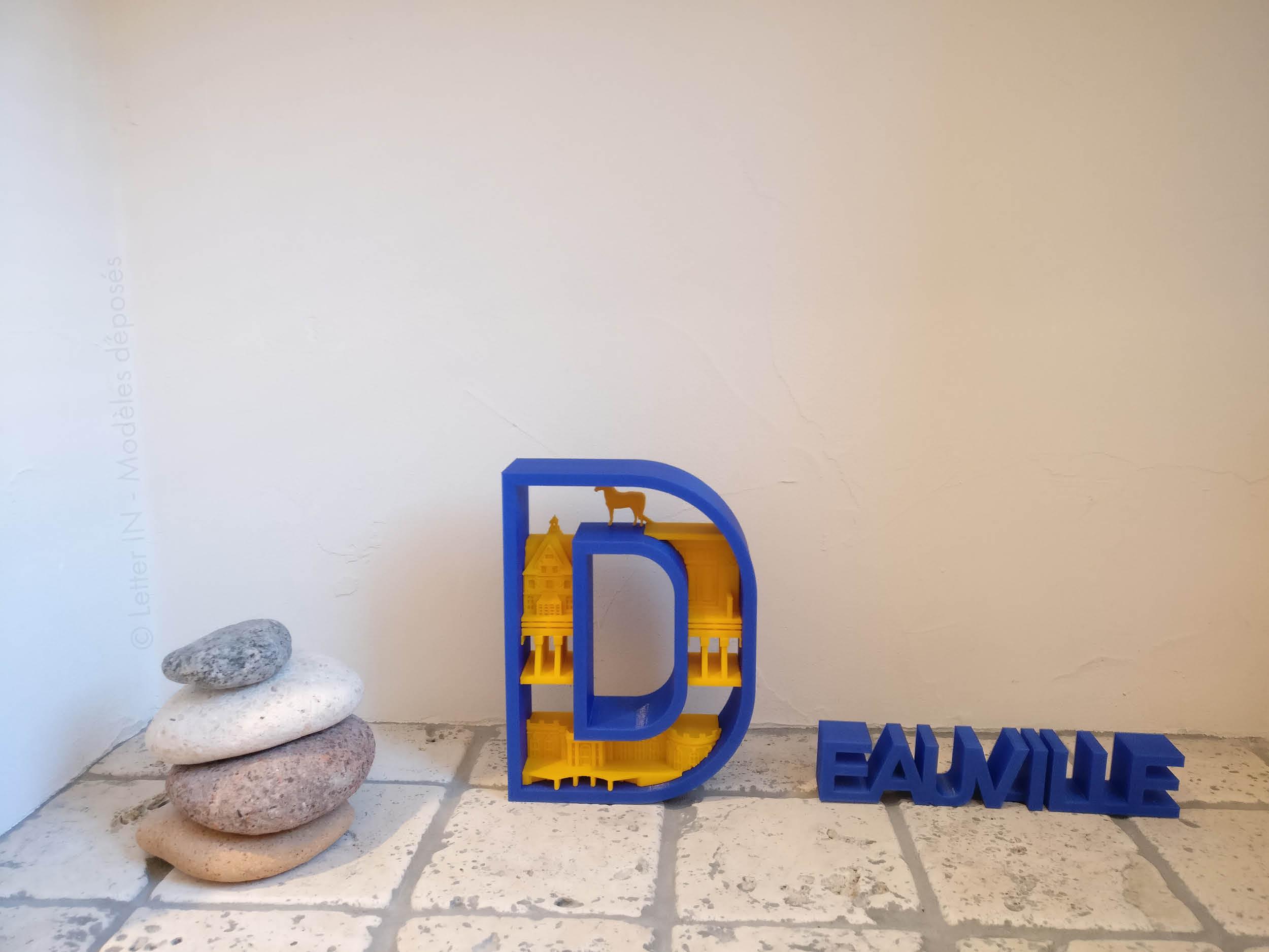 Deauville bleu et jaune galets