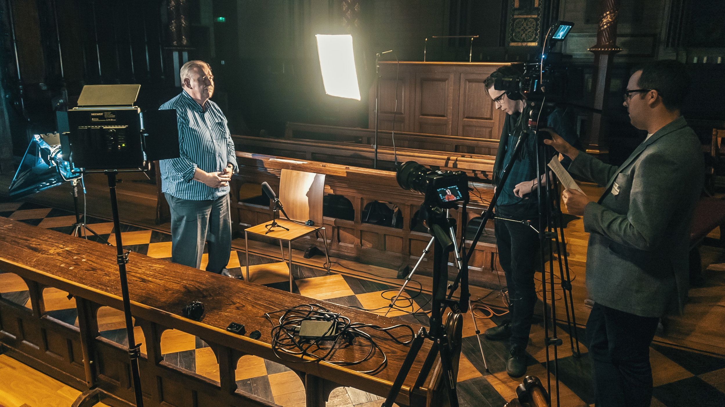 Shooting a promo film for the British Neuroscience Association at King's College London
