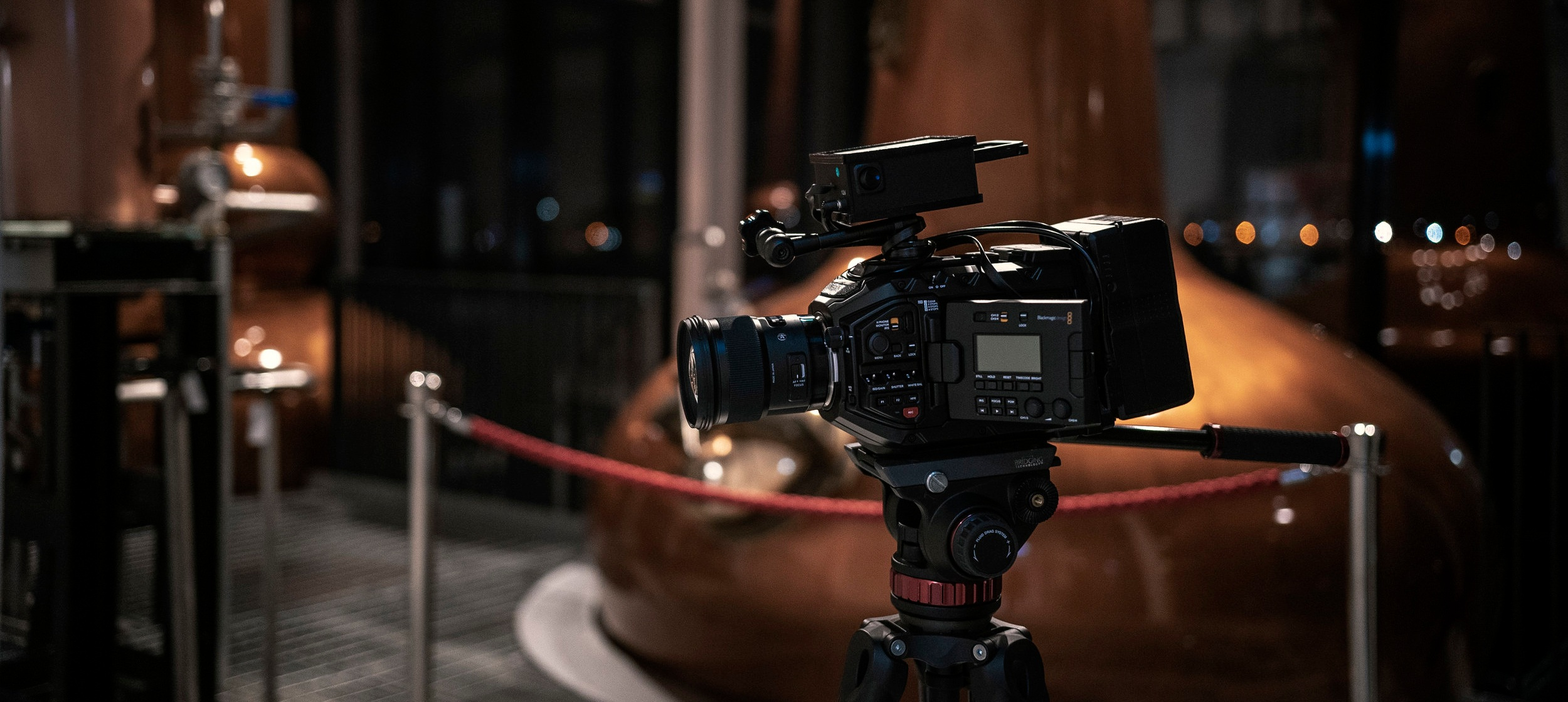 The URSA Mini Pro on location in the Clydeside Distillery, Glasgow