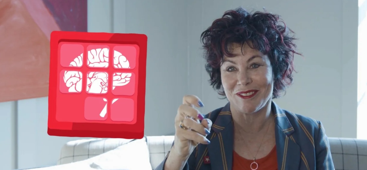 Ruby Wax in a still from my BNA film