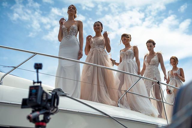 Today I was shooting highlights from a bridal fashion show for @thewhitecollection on Portishead Marina - had great weather for it!