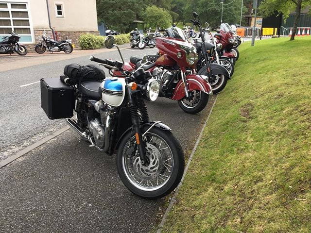 Official! The Motorcyclist's Guide To Scotland - it's a triumph at Thunder in the Glens. A chief among Indians? A rose among thorns? .. . . . #themotorcyclistsguidetoscotkand, #thunderintheglens, #titg, #Aviemore