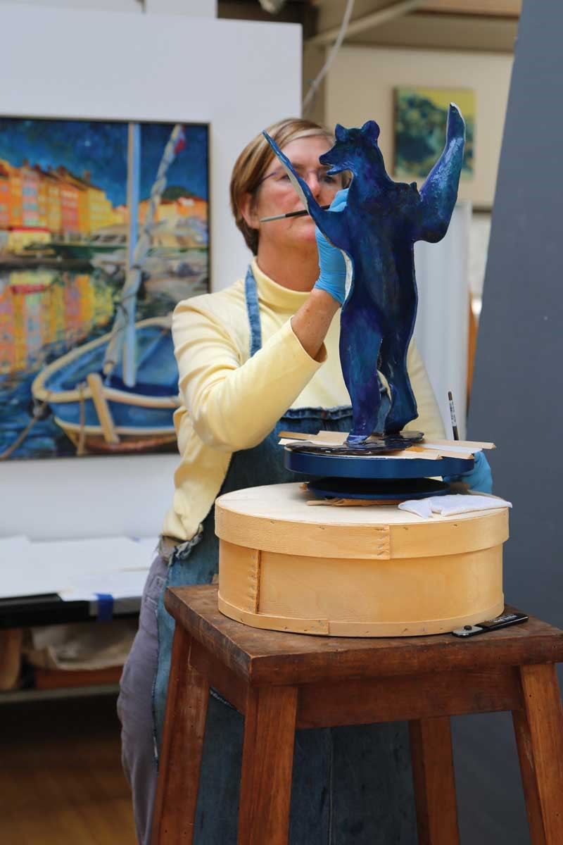 "Cynthia Stroud - Trained as a classical sculptor, her work explores a three-dimensional world of opposing forces – motion and stillness, light and darkness – that she calls the ""choreography of life""."