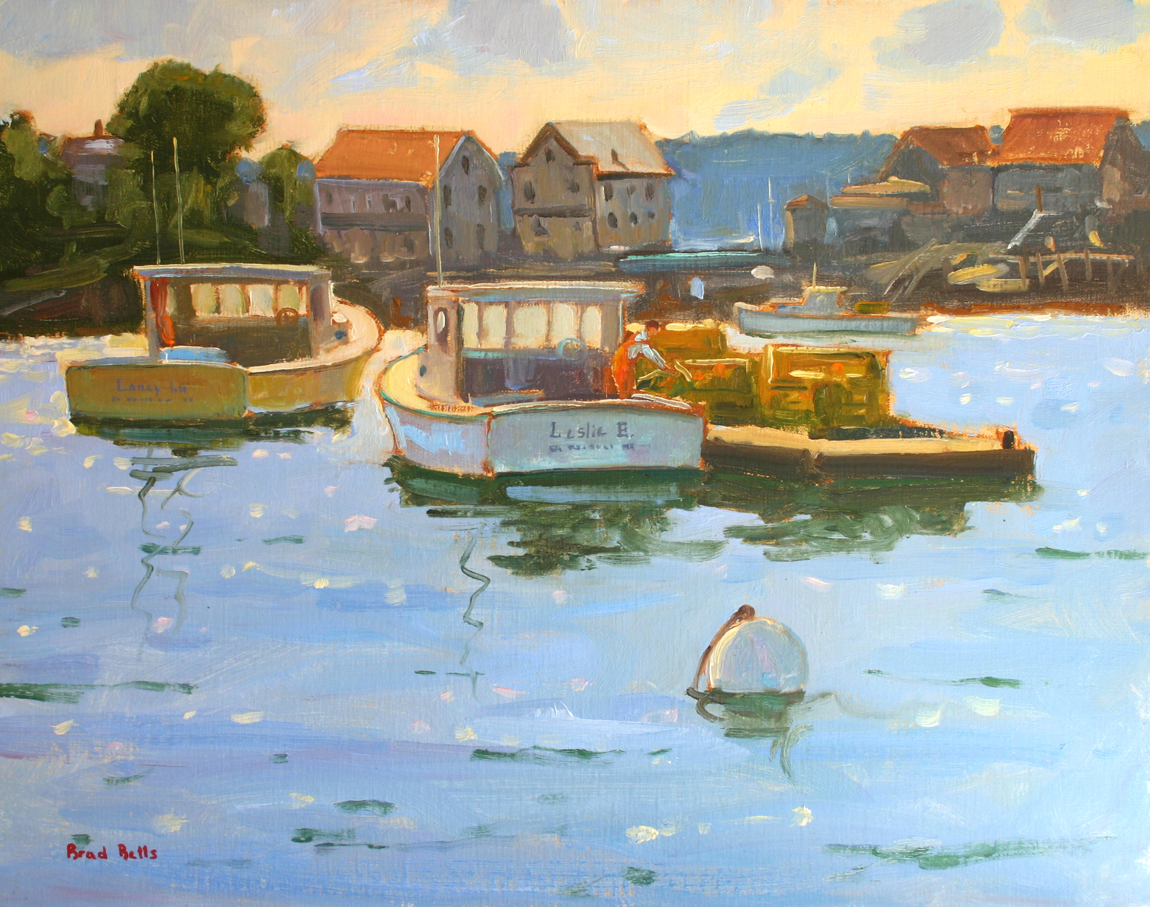 6. Betts Loading The Traps South Bristol Harbor 11 x 14 Oil On Linen $2400 .jpg