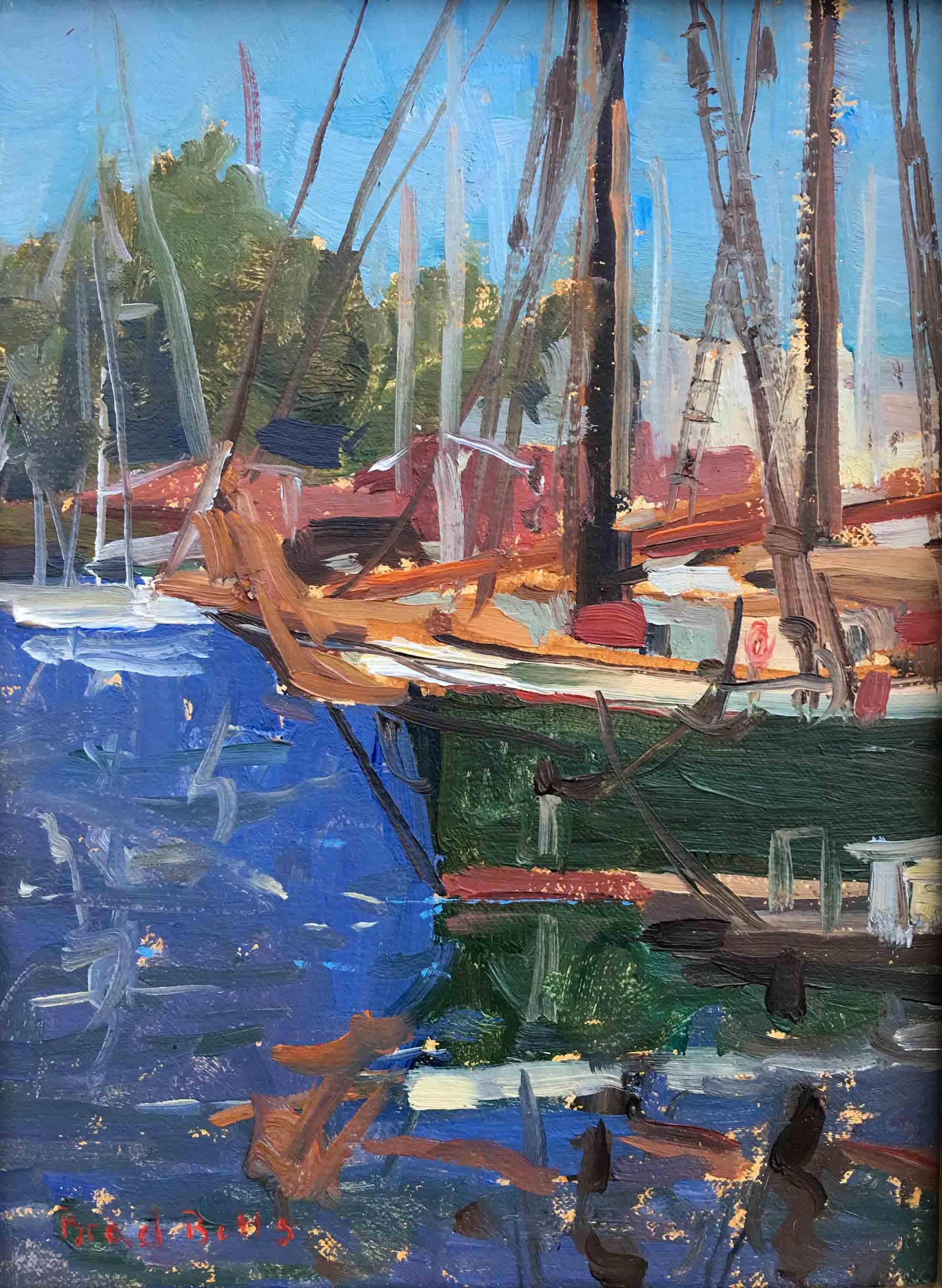 Sailboat in Camden Harbor