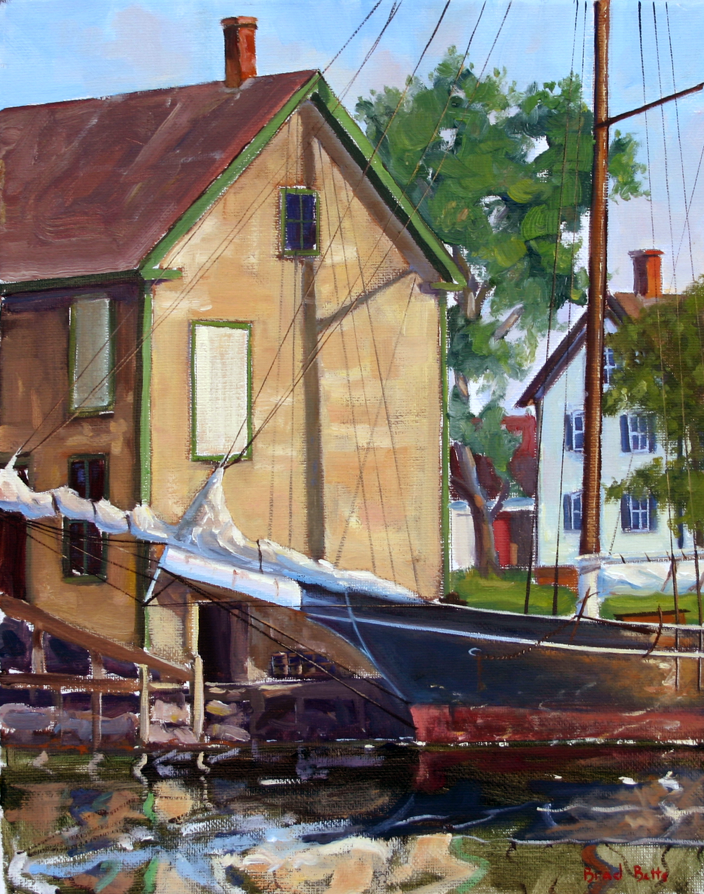 Wharf Study, Somes Sound