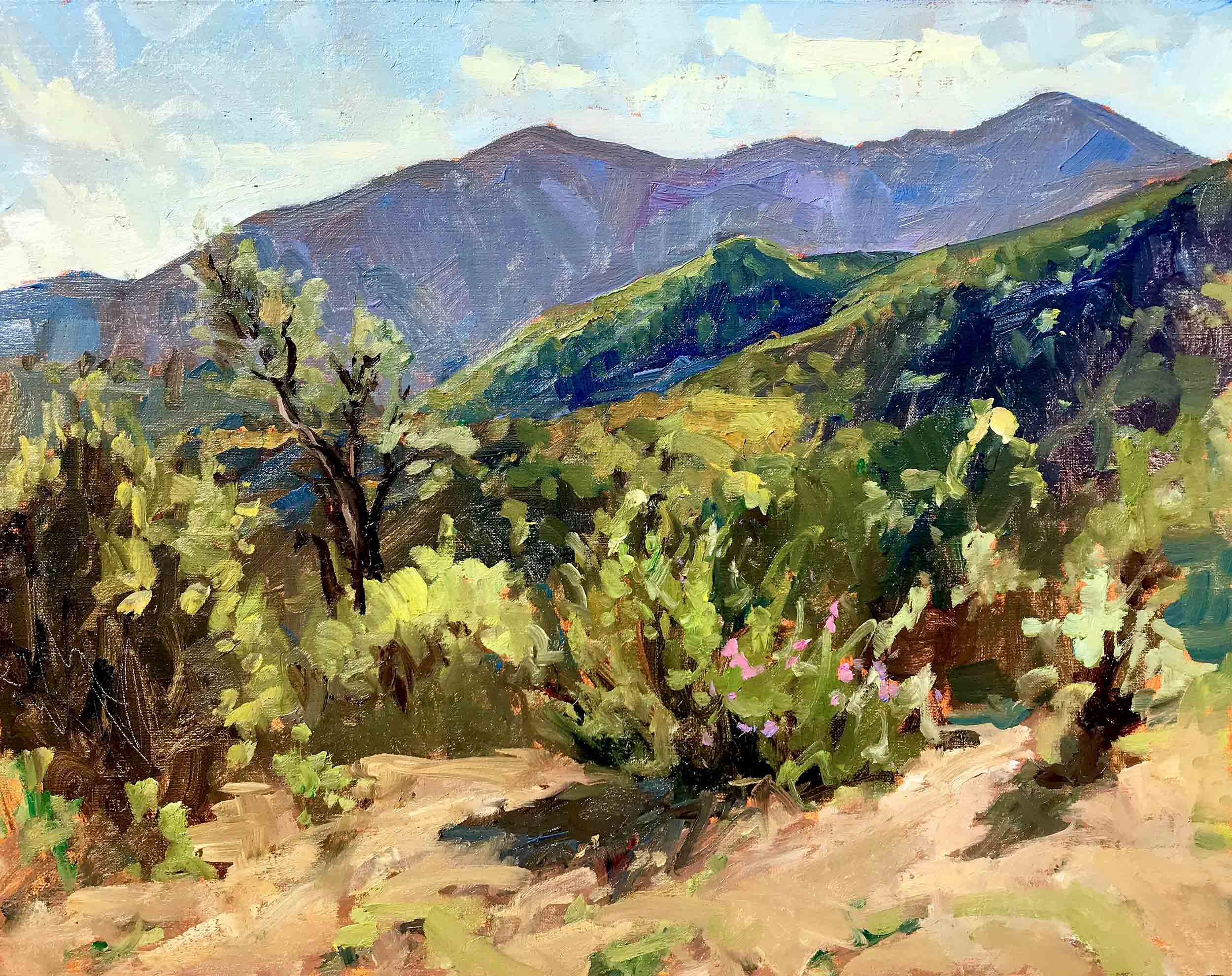 Wild Horse Peak, 11x14 en plein air oil painting by Brad Betts. Painted from Sunset Point at Dorland Mountain Arts Colony.