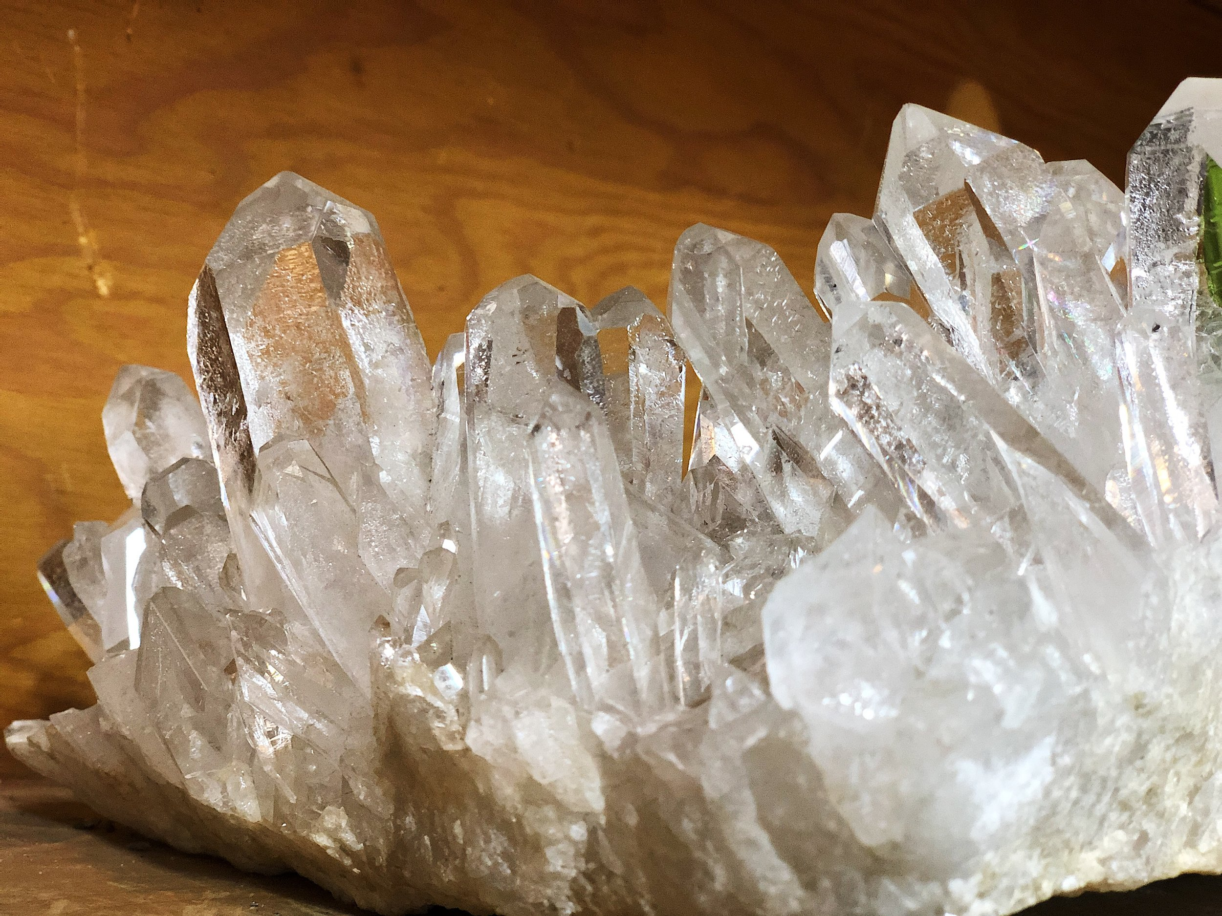 CLEANED CLEAR QUARTZ CRYSTAL CLUSTER