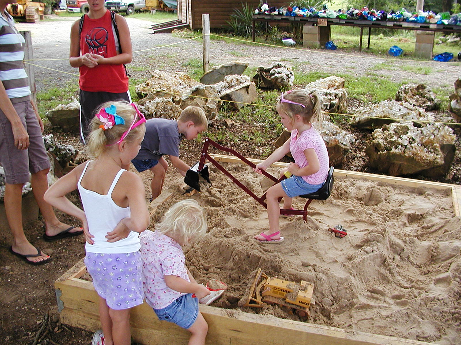 KIDS ENJOYING OUR SANDBOX
