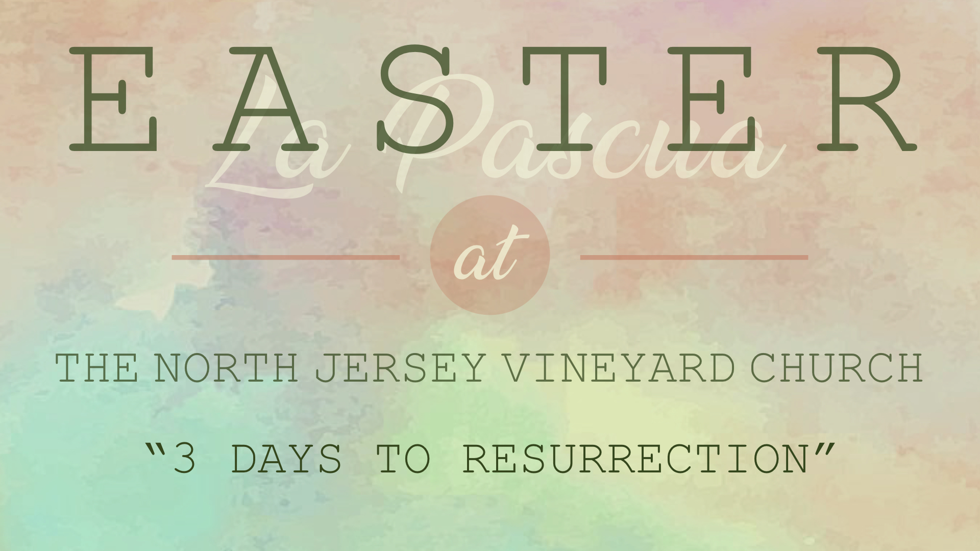 EASTER AT THE VINEYARD | 3 DAYS TO RESURRECTION - PHIL CHORLIAN | 4.1.2018 | WATCH