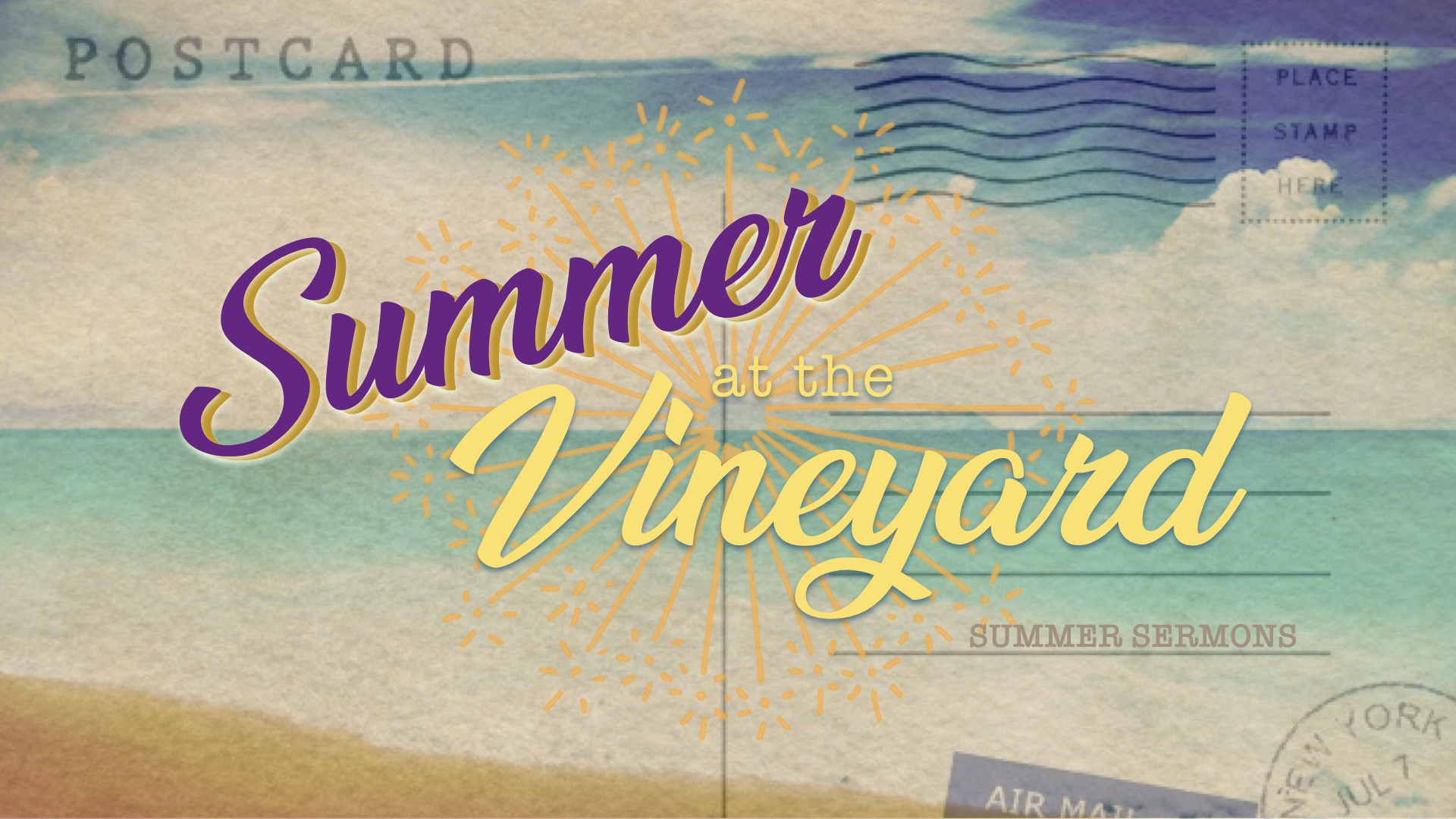 SUMMER AT THE VINEYARD | SERIES - JUDGING | THOMAS MCKELLICK | 06.30.2019 | WATCH | LISTENFINDING GRACE IN A TOYBOX | SUE SEHULSTER | 07.07.2019 | WATCH | LISTENTHERE'S REALLY ENOUGH: ENDING THE FEAR OF SCARCITY | MIKE TURRIGIANO | 07.14.2019 | WATCH | LISTENWHERE DID MY TIME GO? | MARY ANN DE LA TORRE | 07.21.2019 | WATCH | LISTENGOD TRANSFORMS US | GRIMALDI MARTINEZ | 07.28.2019 | WATCH | LISTEN