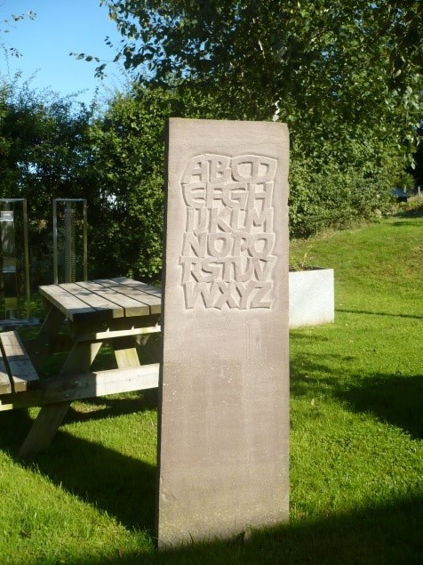 Tom Perkins, Raised Alphabet 2010, Herefordshire Sandstone