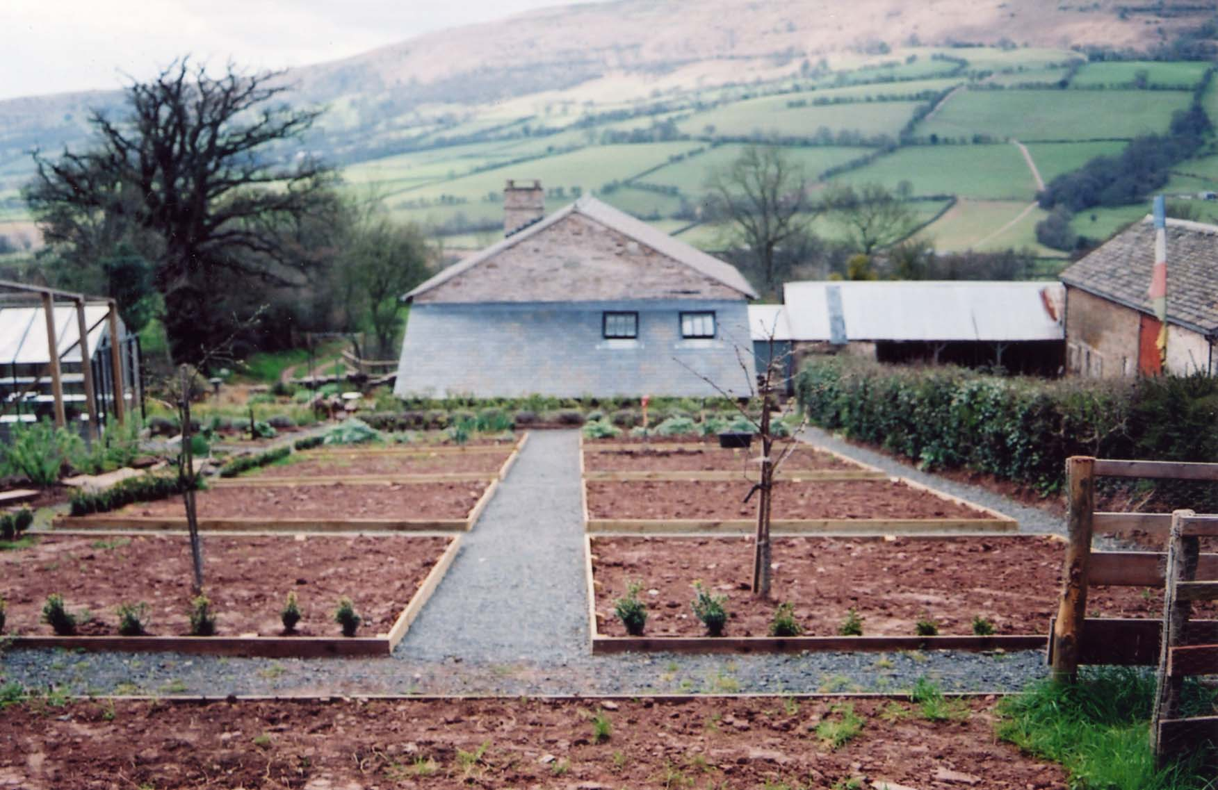 Veg patch laid out Spring (2005)