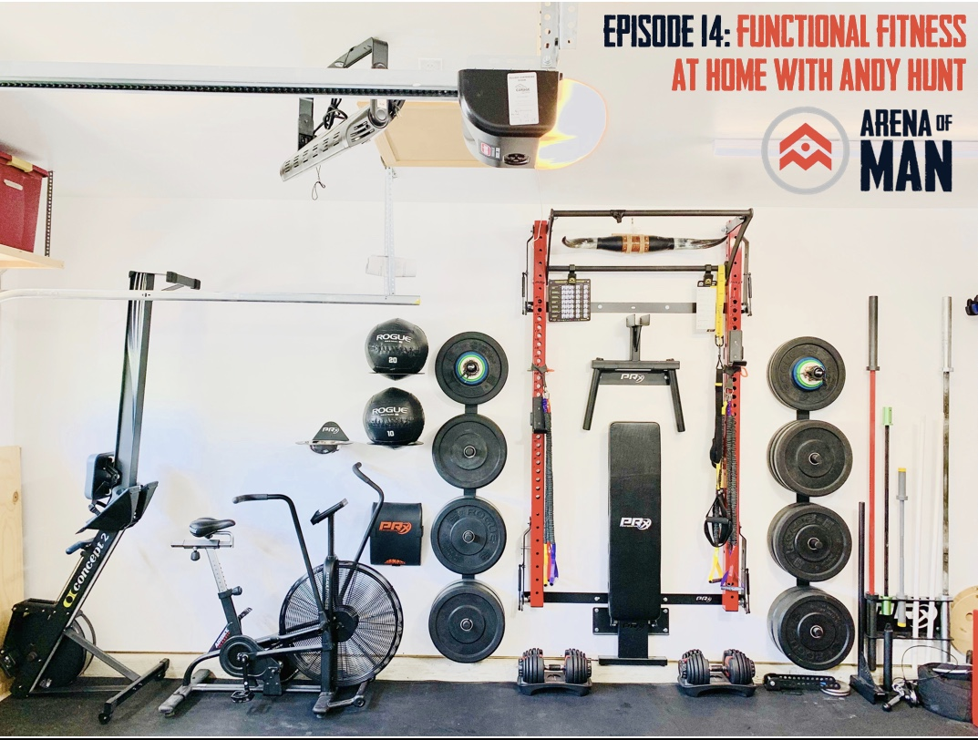"Andy has created an incredible ""garage gym"" that allows him to pursue functional fitness while managing his time efficiently."