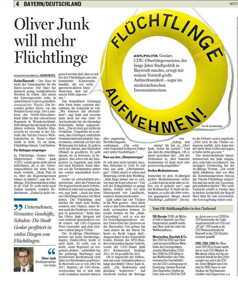 Bayerische Rundschau, 03. Dezember 2015