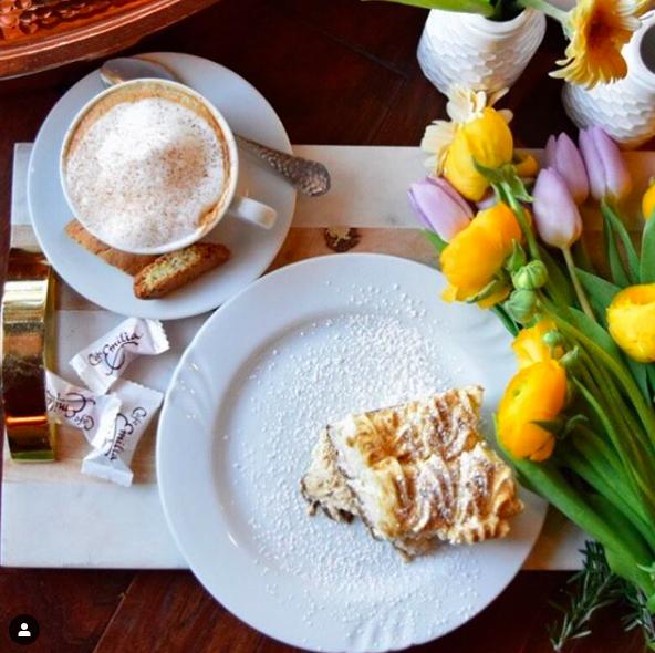 Tasty post savory Treats - Tiramisu & Cappuccino with Biscotti's