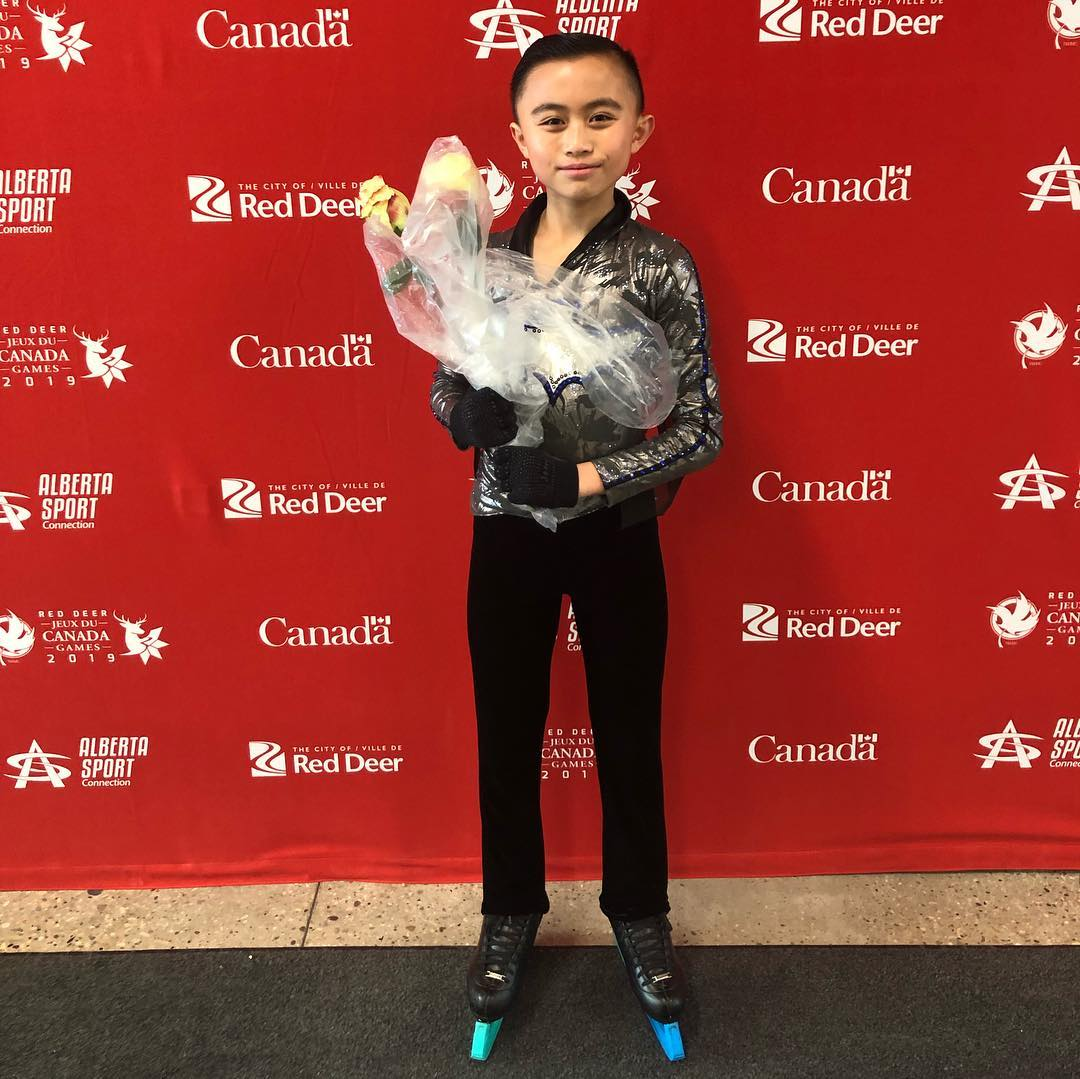 Brendan Wong - In the Pre-Novice Men's category, Brendan Wong had two strong skates to finish in second place overall!