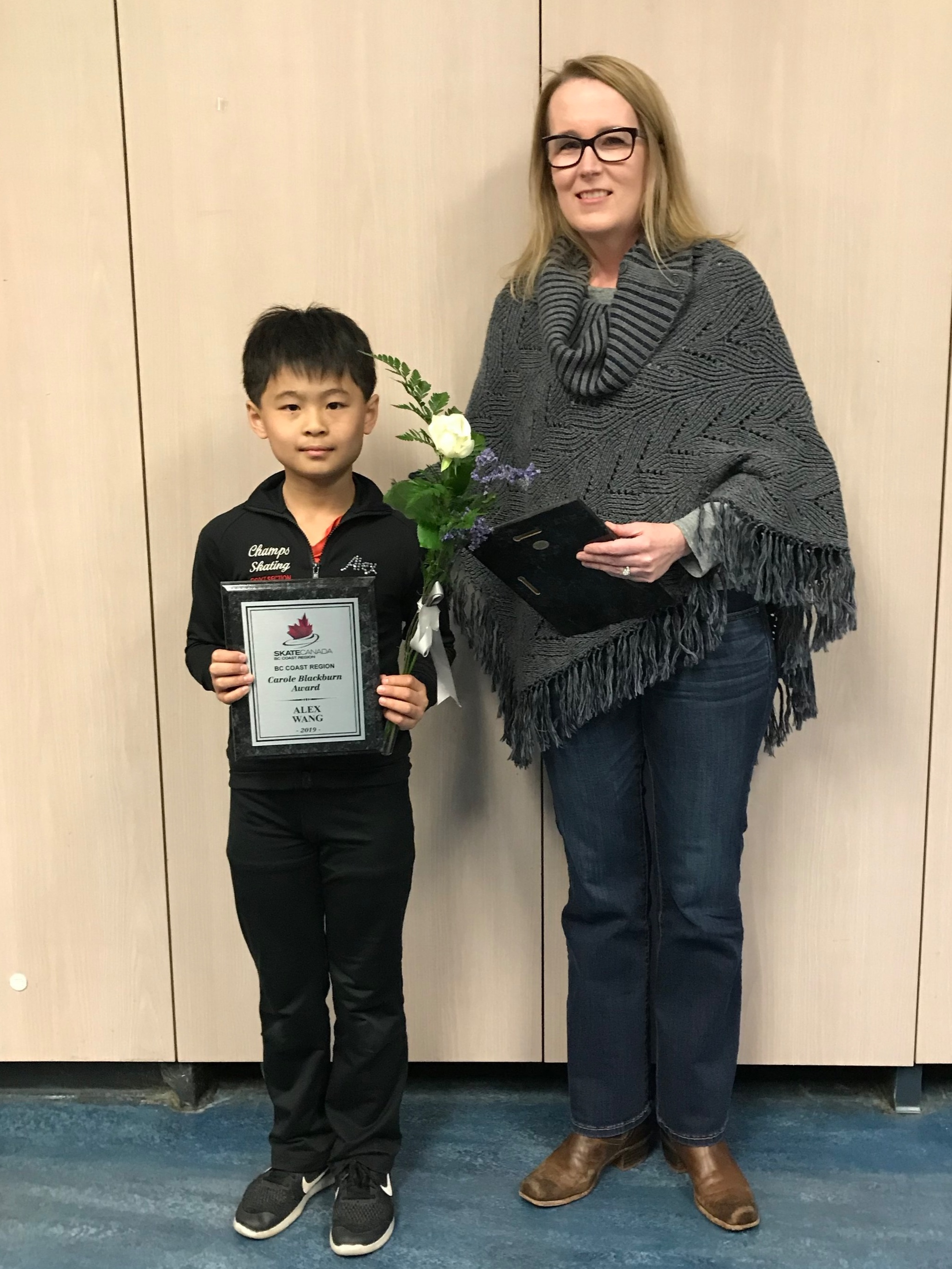Alex Wang - Winner of the 2019 Carole Blackburn Memorial Award (Juvenile Men)