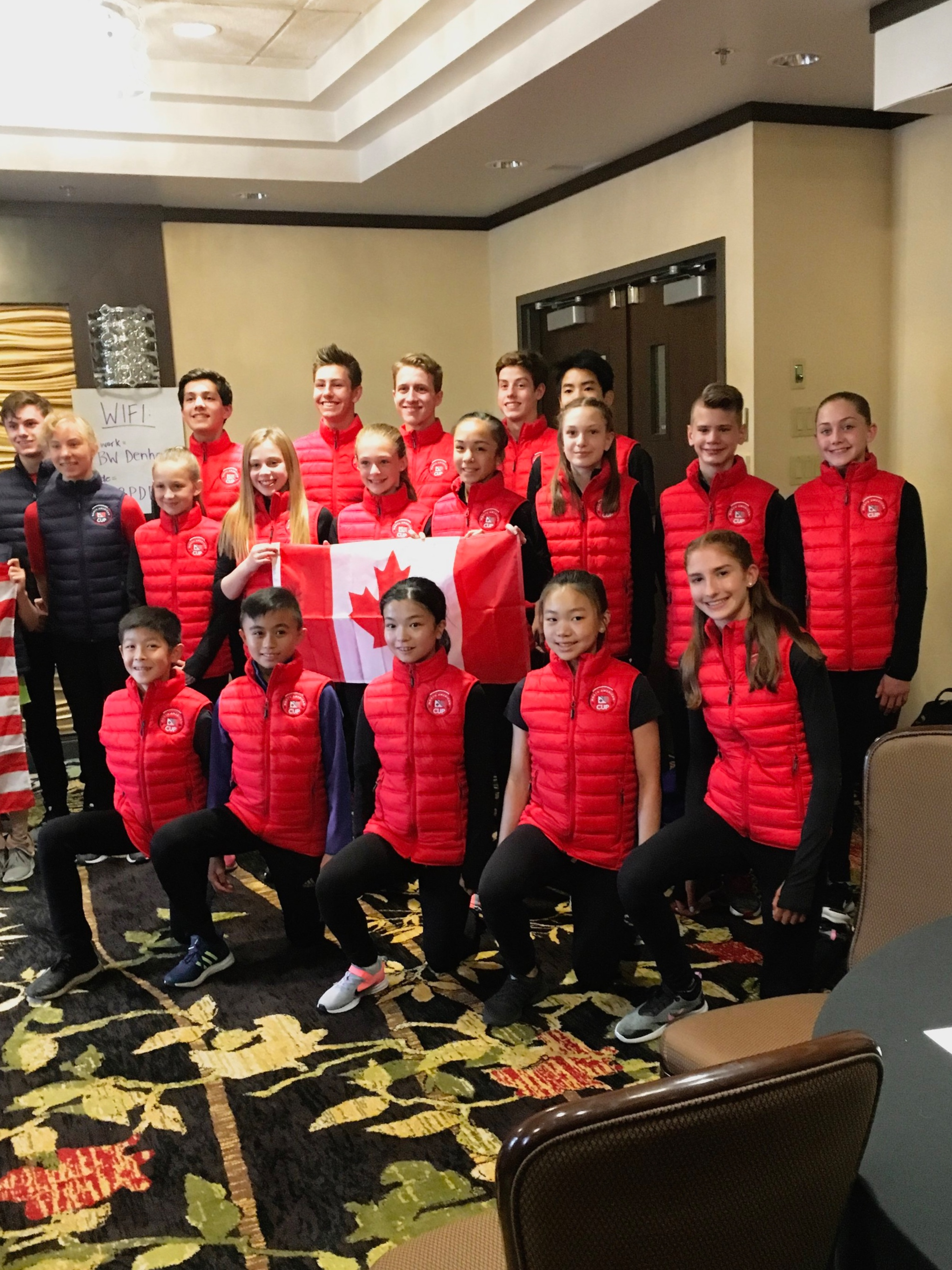 Team Canada at the 2019 North American Cup in Leduc, AB