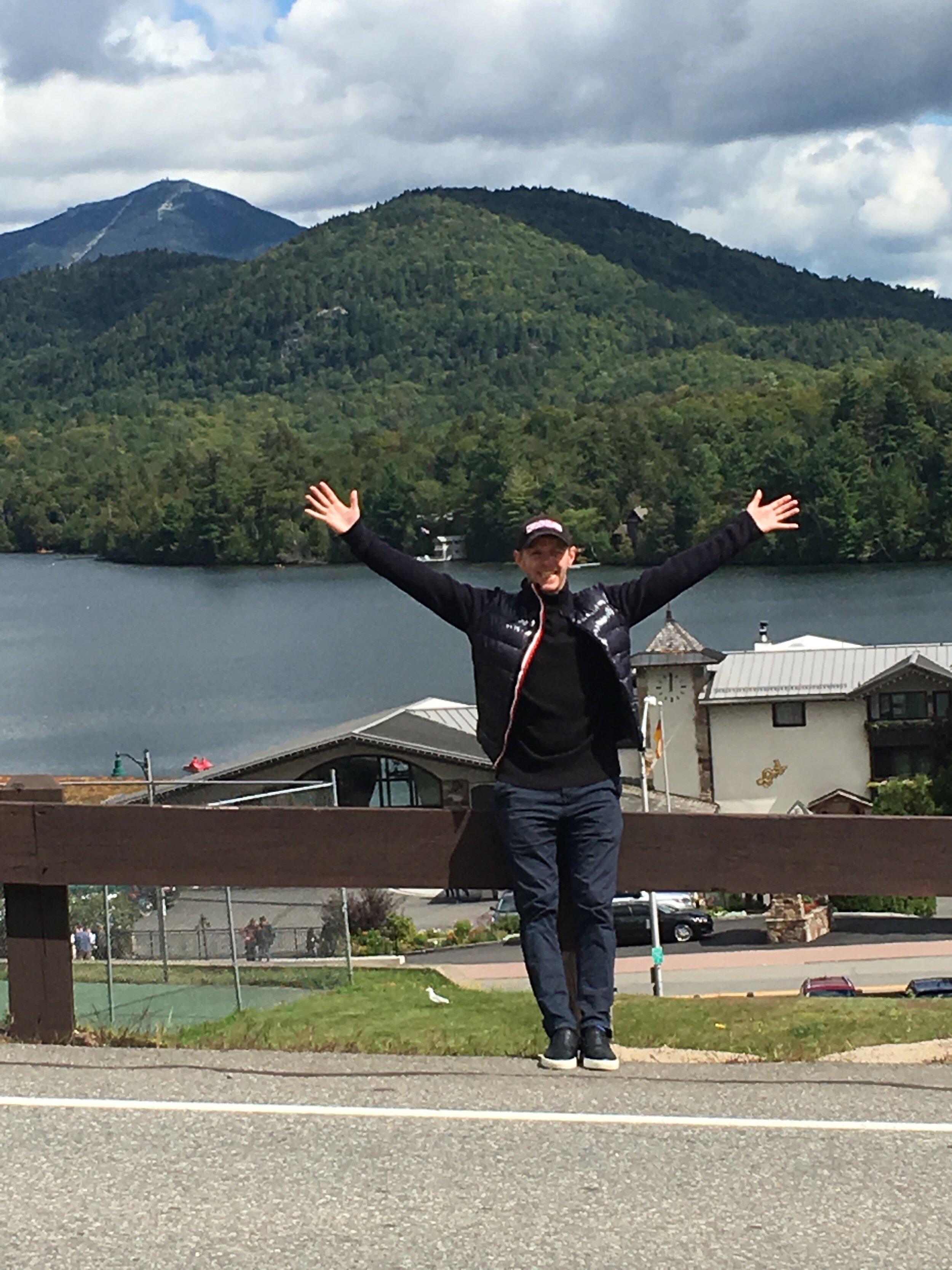 Neil enjoying some sunshine at the ISU JGP Lake Placid!