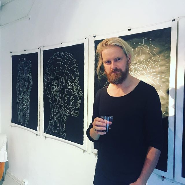 With my creative friend Johan Bring @juste_gallery #stockholmart