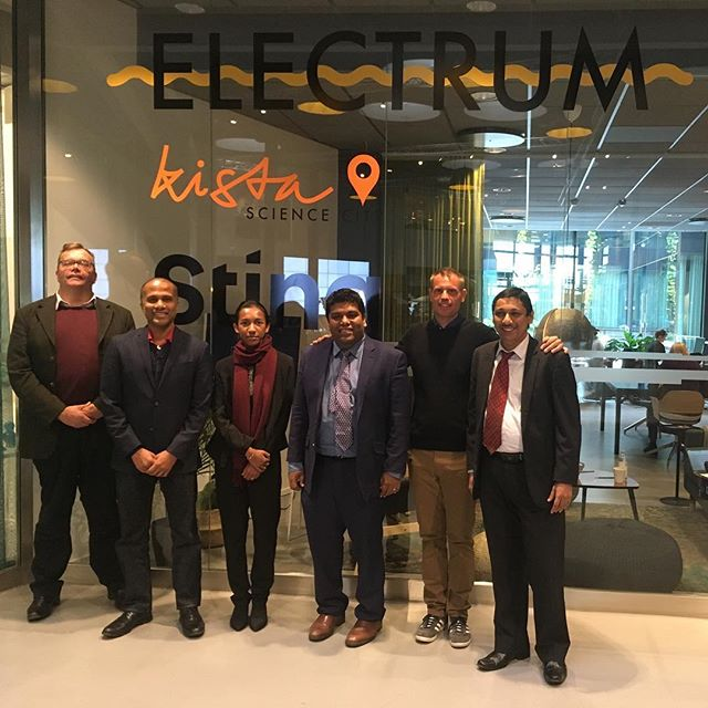 With Jeevan Gnanam - Chairman of Sri Lanka Association of Software and Service Companies -exchanging insights and ideas within the frame of the Kista story and triple helix. Sri Lanka has access to one third of the world market and is well positioned as an intermediator and agent for positive change. ———————————- #stockholm #innovation #cluster #kista #visitstockholm #visitsweden #srilanka #sweden #bridge #connection