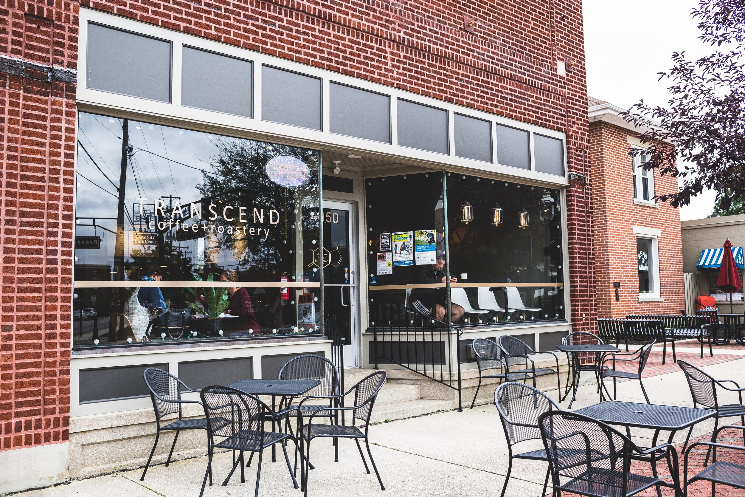 Transcend Coffee Shop exterior modern