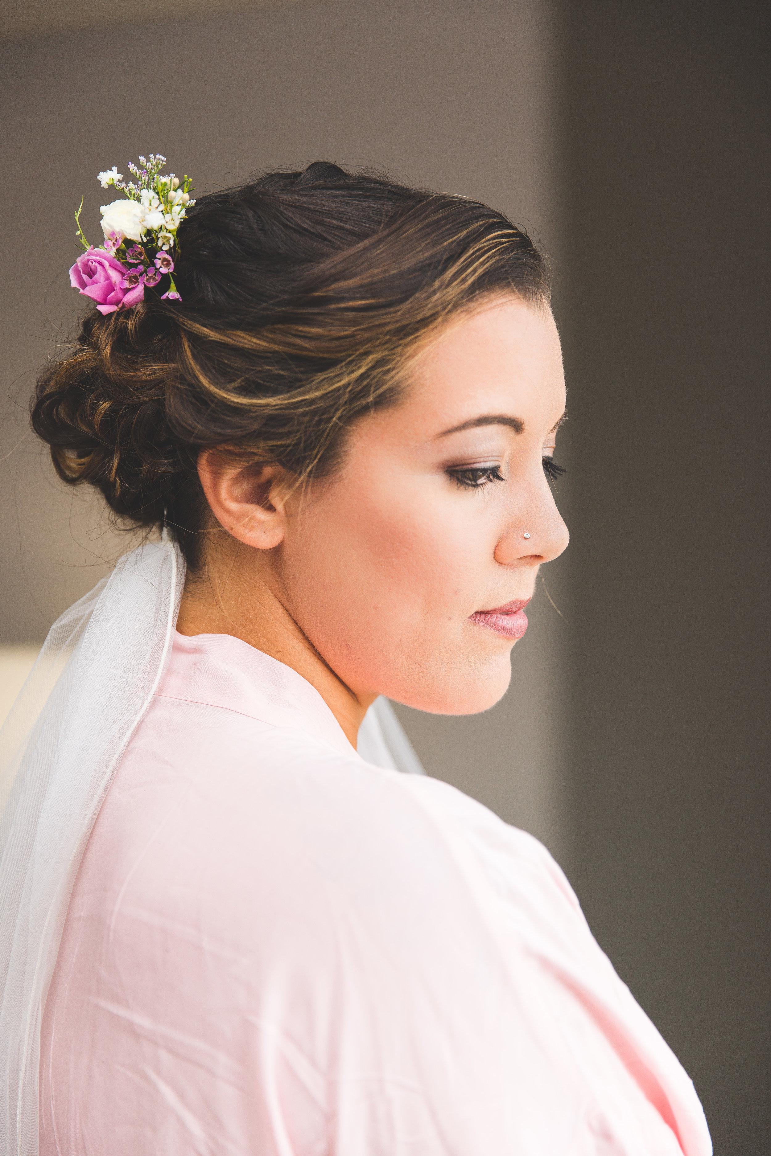 bride portrait wedding day