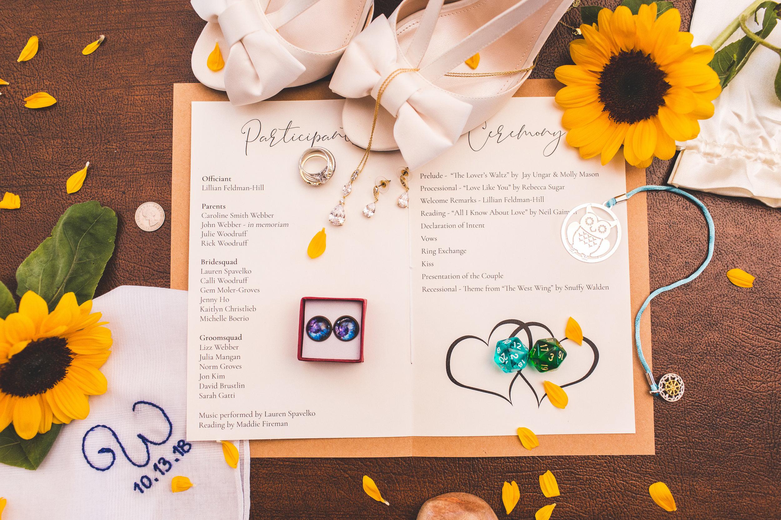 wedding details groom and bride