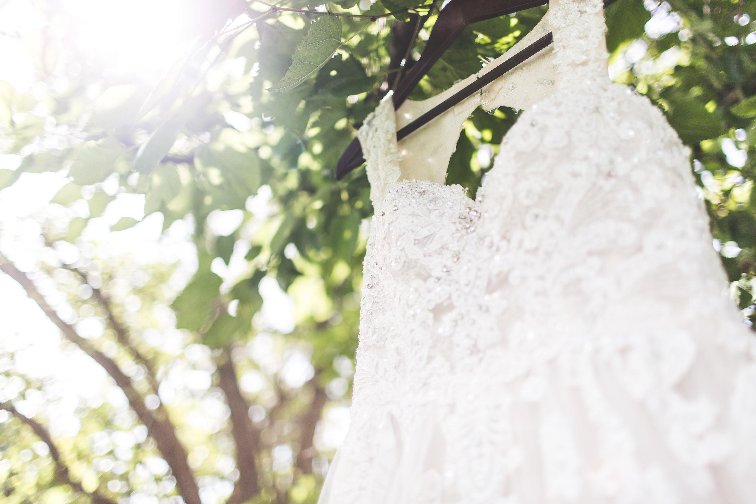 bride wedding dress light leak
