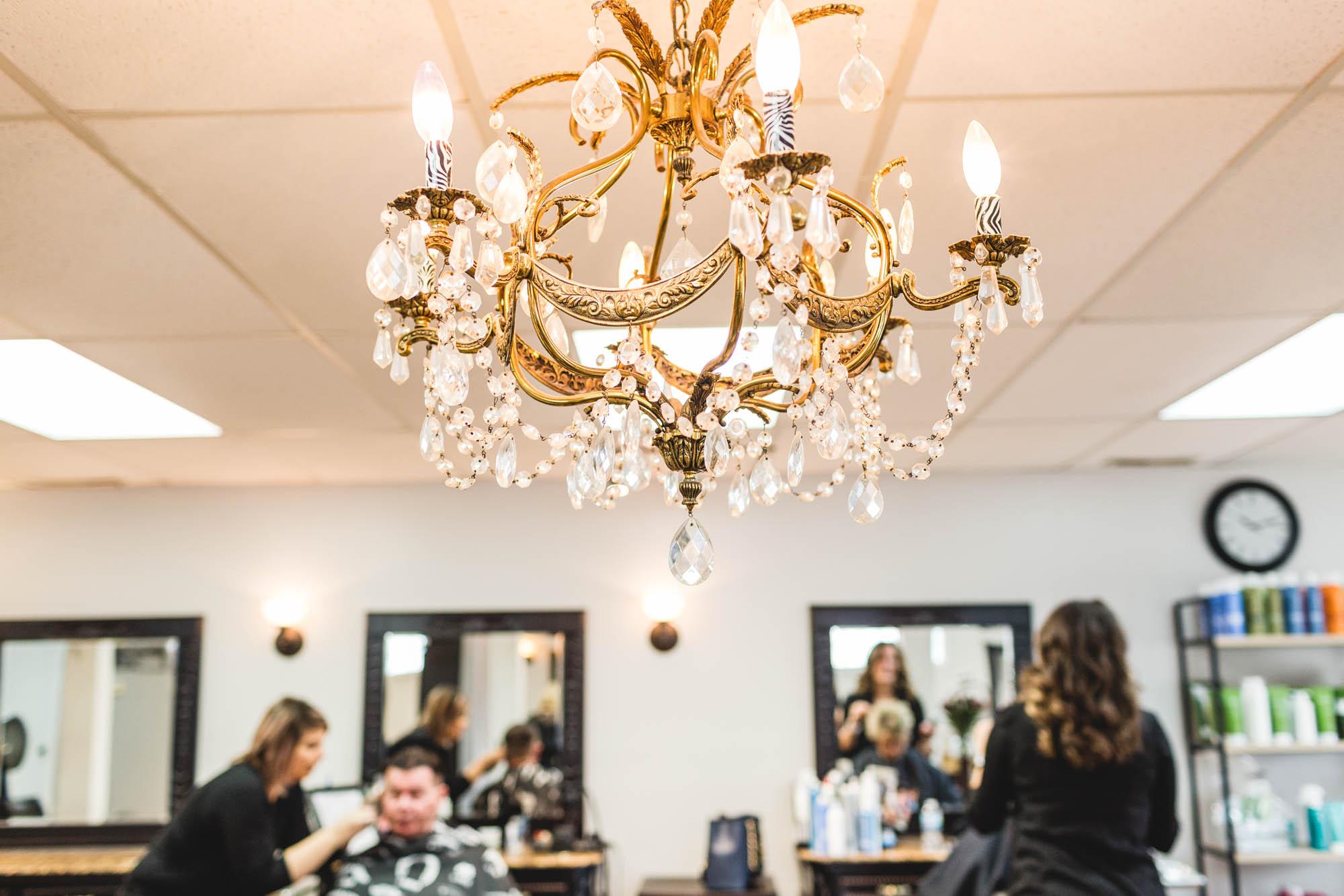 chandelier hair salon