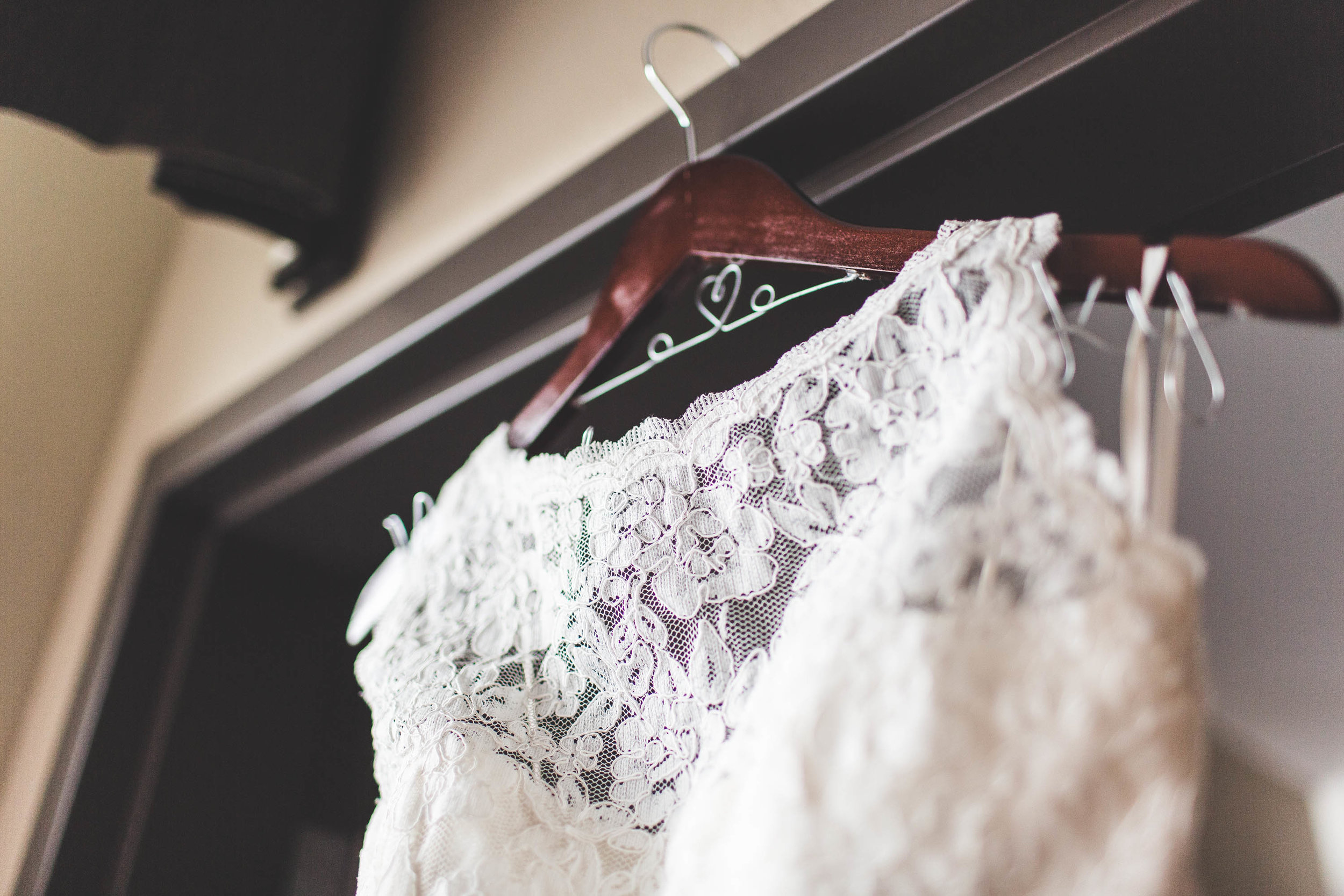 wedding dress hanging from a doorframe columbus ohio
