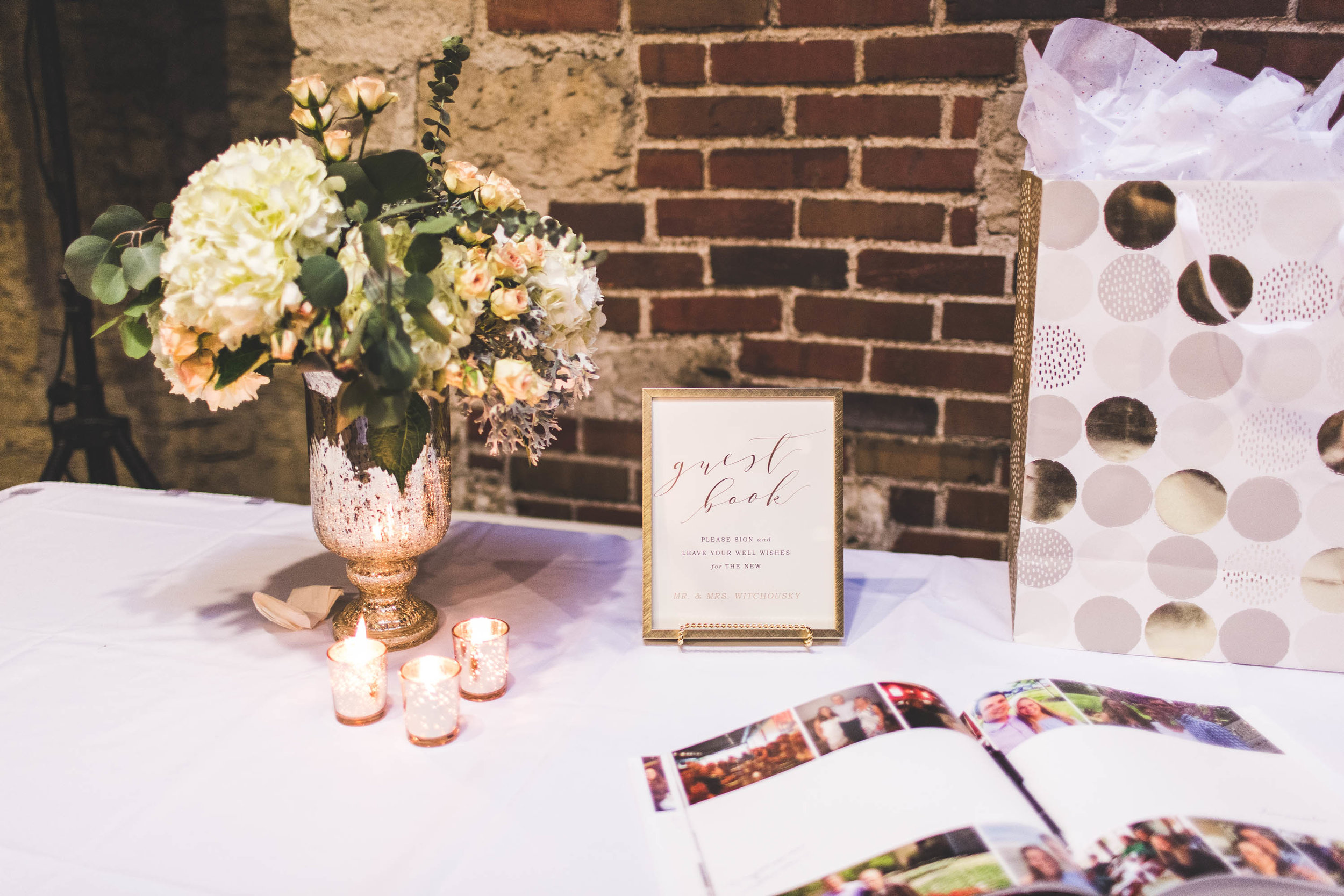 wedding guest book and gifts at osu golf club columbus ohio