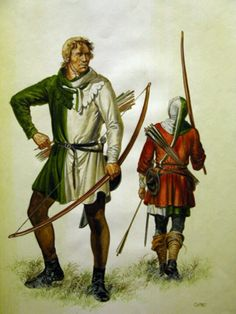 The green and white is the livery of the Welsh archer.
