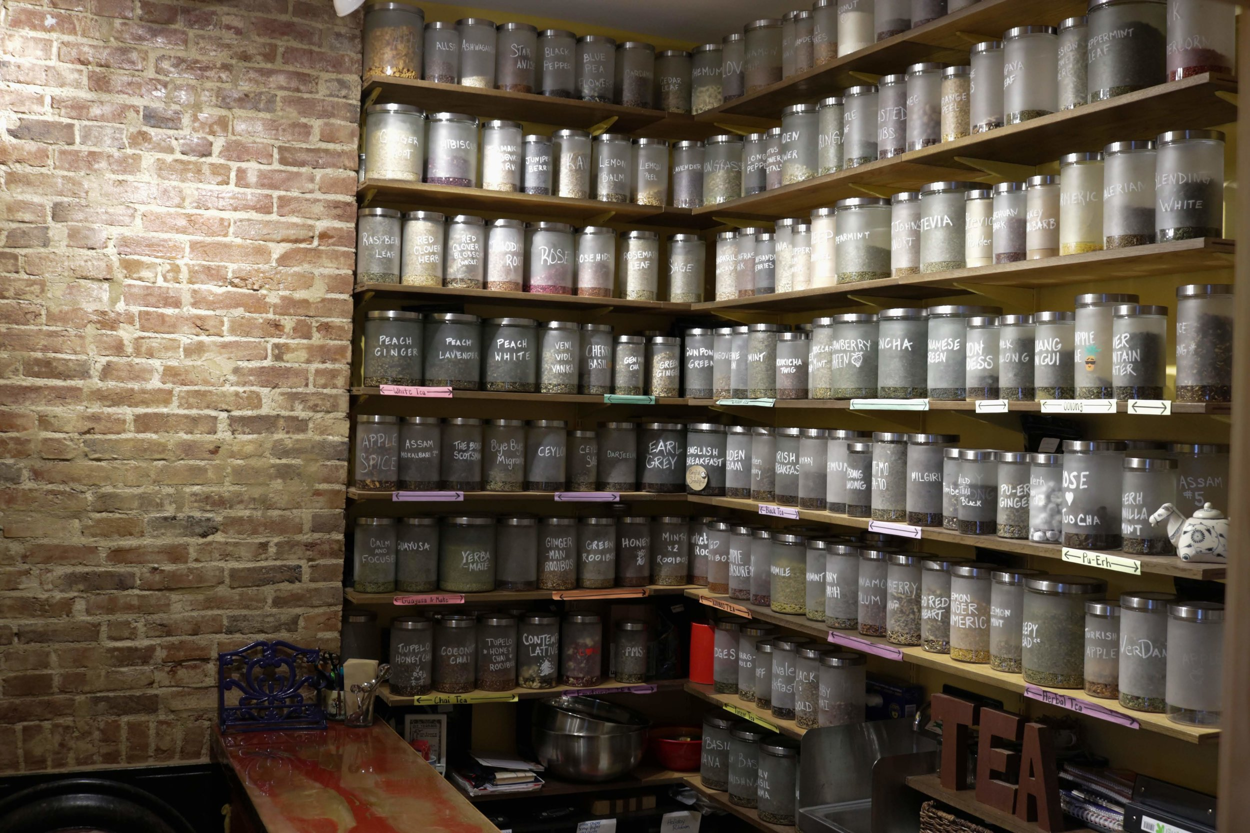 Choose from more than 75 organic teas and tea blends.