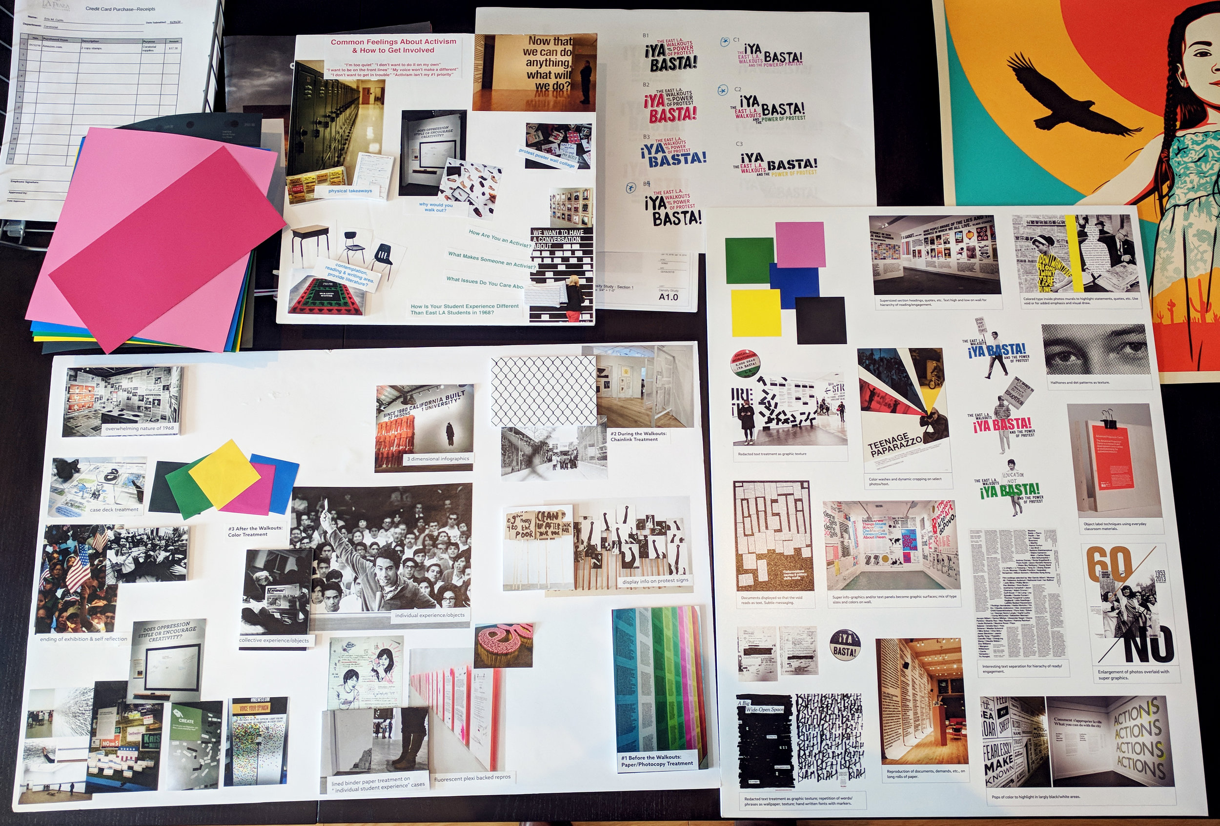 Mood boards for 2- and 3-dimensional design.