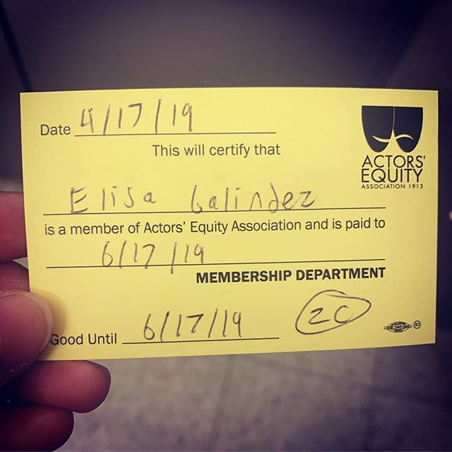 #365daysofgratitude #day107 I worked my ass off for this. I am beaming. #proud #actor #actorsequity #career