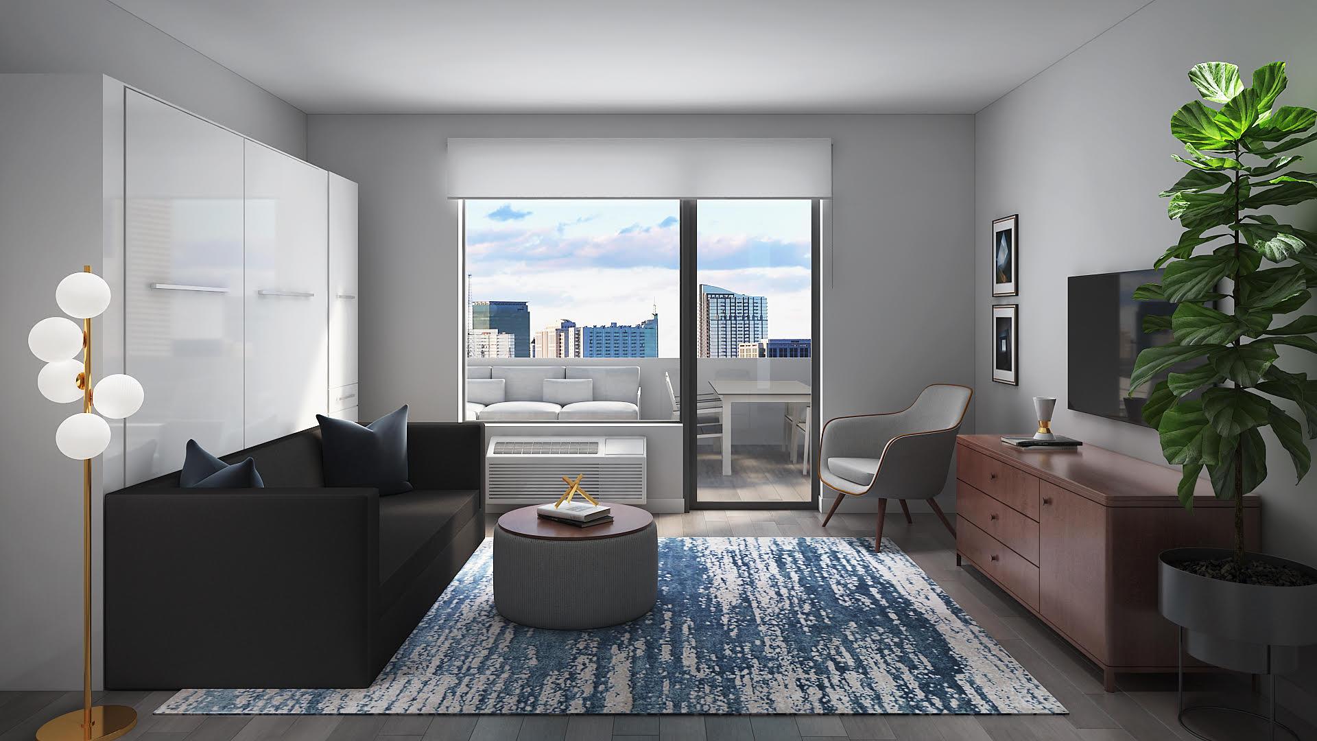 The Millennia   Studio Apartment