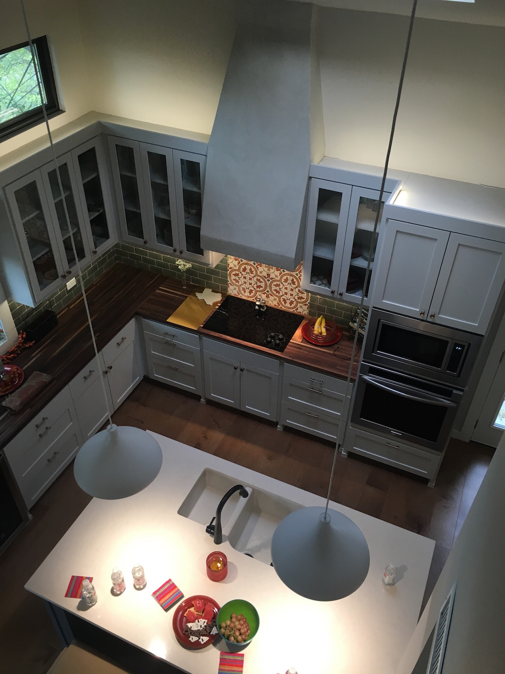 kitchen remodel with new island and custom cabinetry