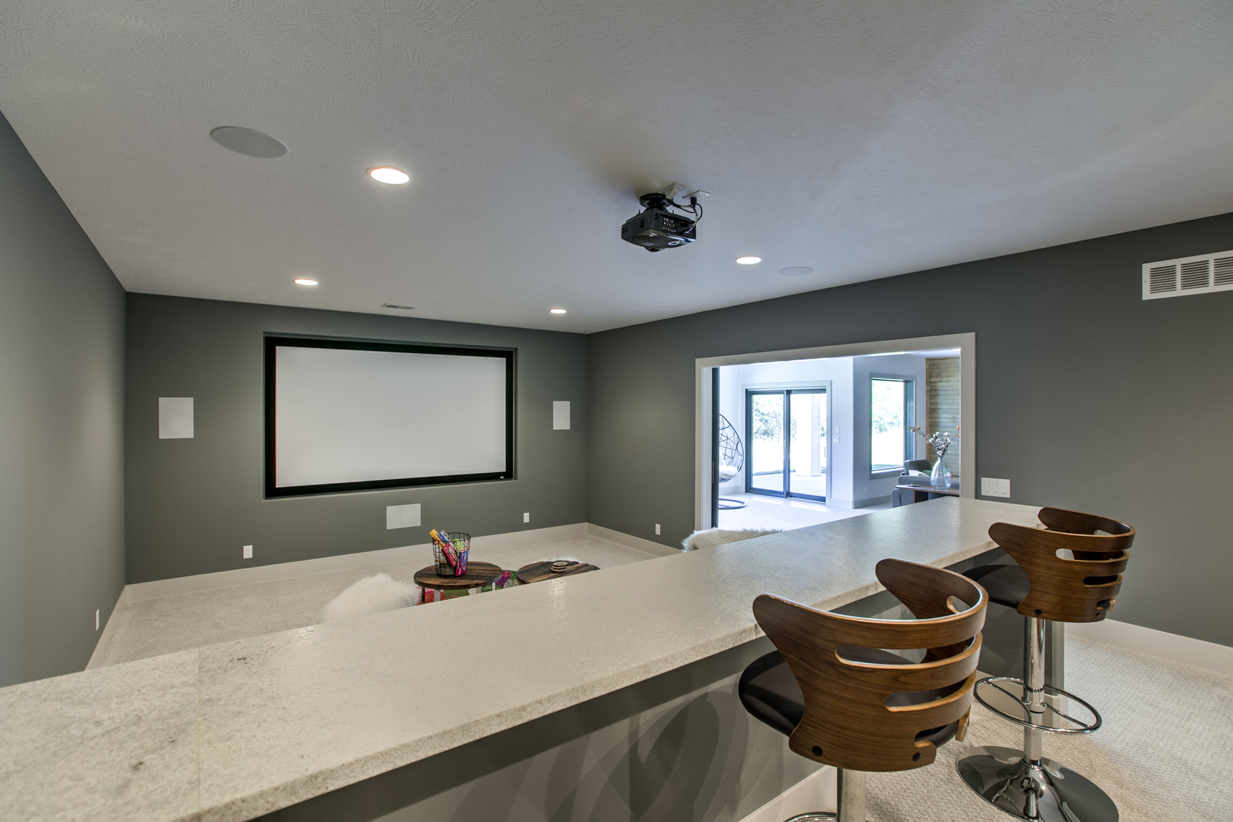 The Theater Room | Nathan Homes