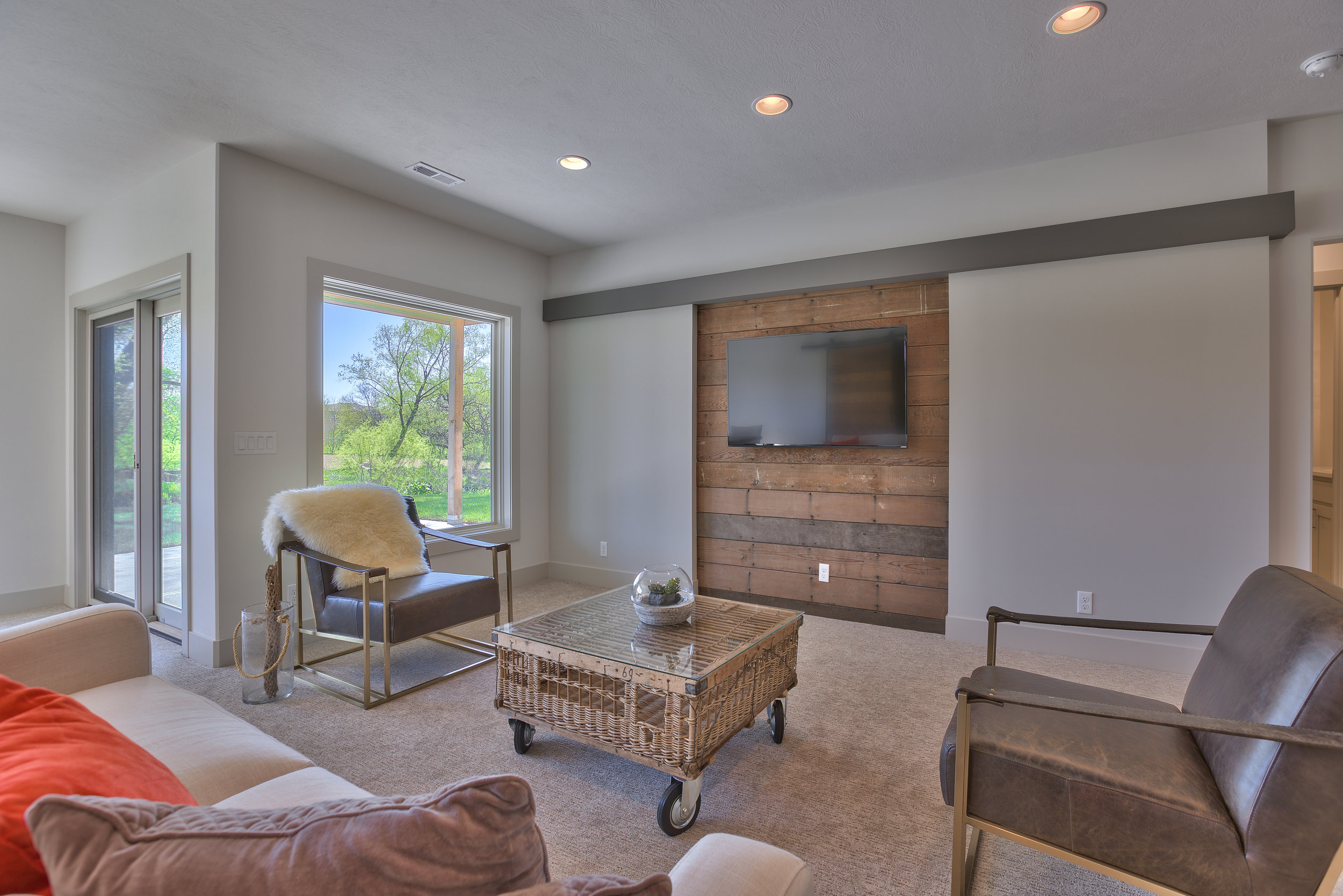 The Basement Living Area | Nathan Homes