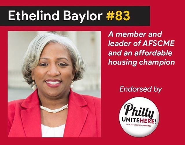Thank you so much to @uniteherephilly for the continued support. T-Minus 2 days until Election Day. Hard working Philadelphia's deserve to be heard, and there is no better way to be heard than by casting your vote. On May 21st, remember Button 83!  #ethelindbaylor4council #phillyvotes #votephilly #vote #philadelphia #philly #phillysupportphilly #gotv #gotvphilly #citycouncil #citycouncilatlarge #phillycitycouncil